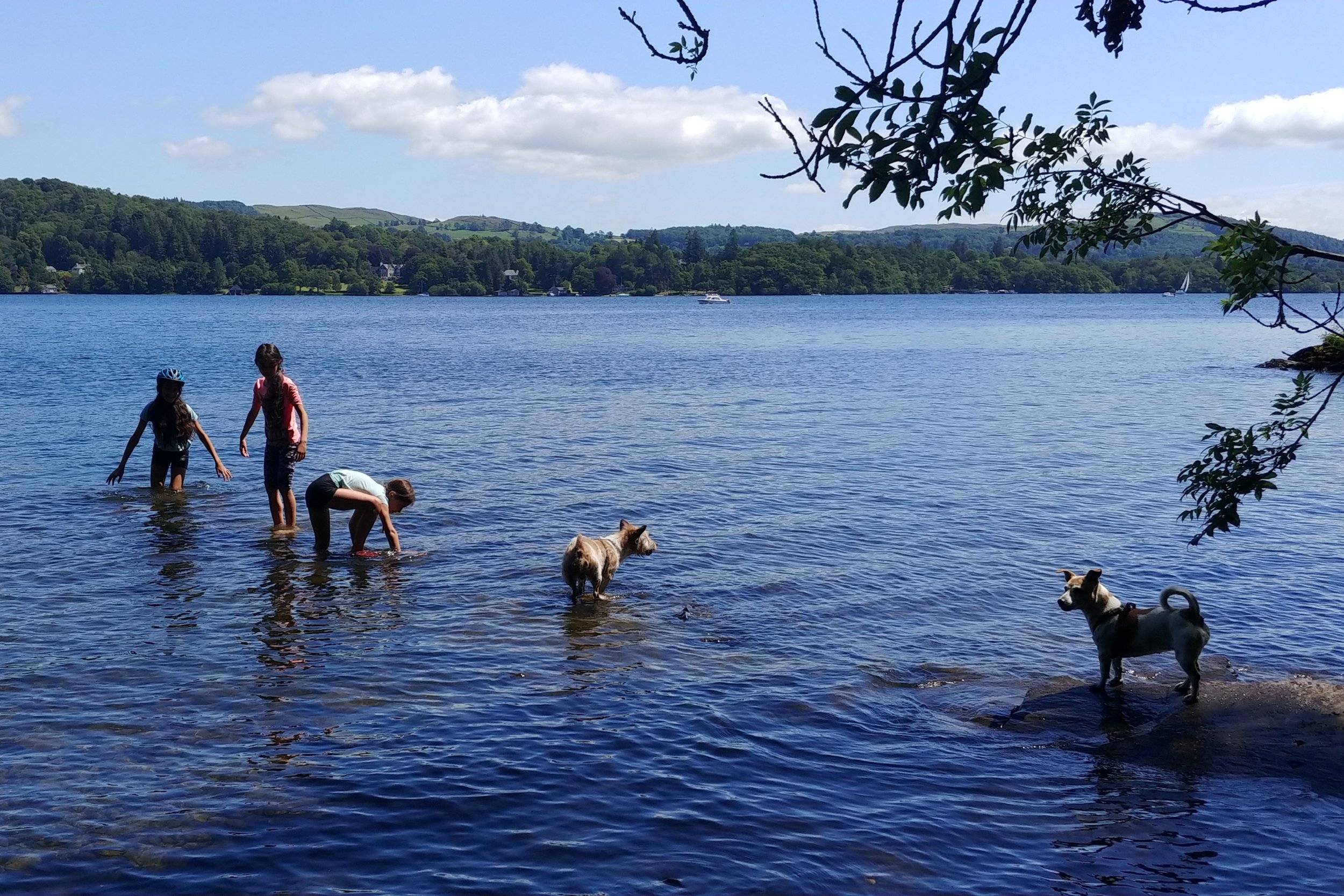Sunny enough to paddle!