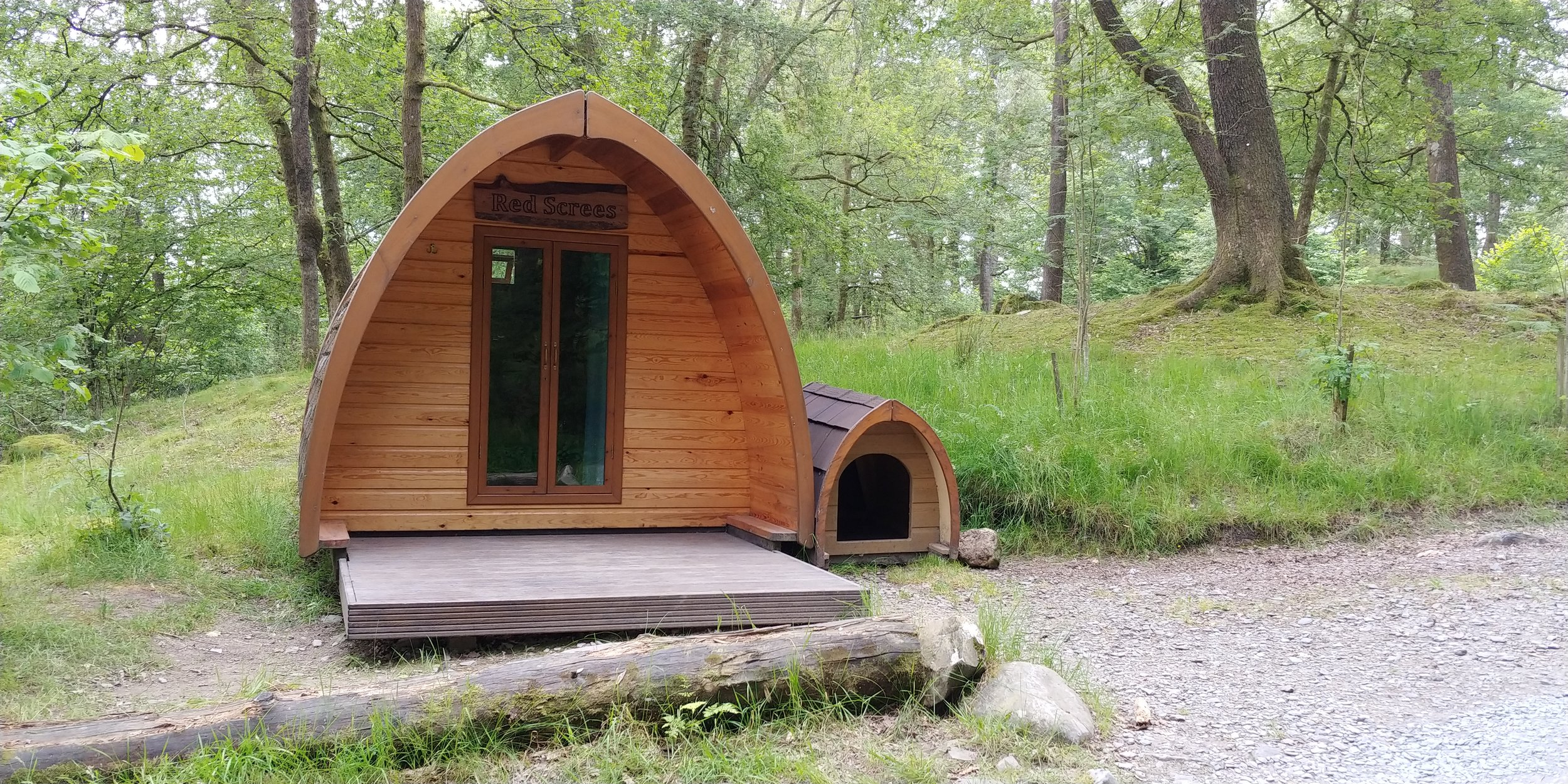 Hobbit pods, with kennels for hobbit doggies.