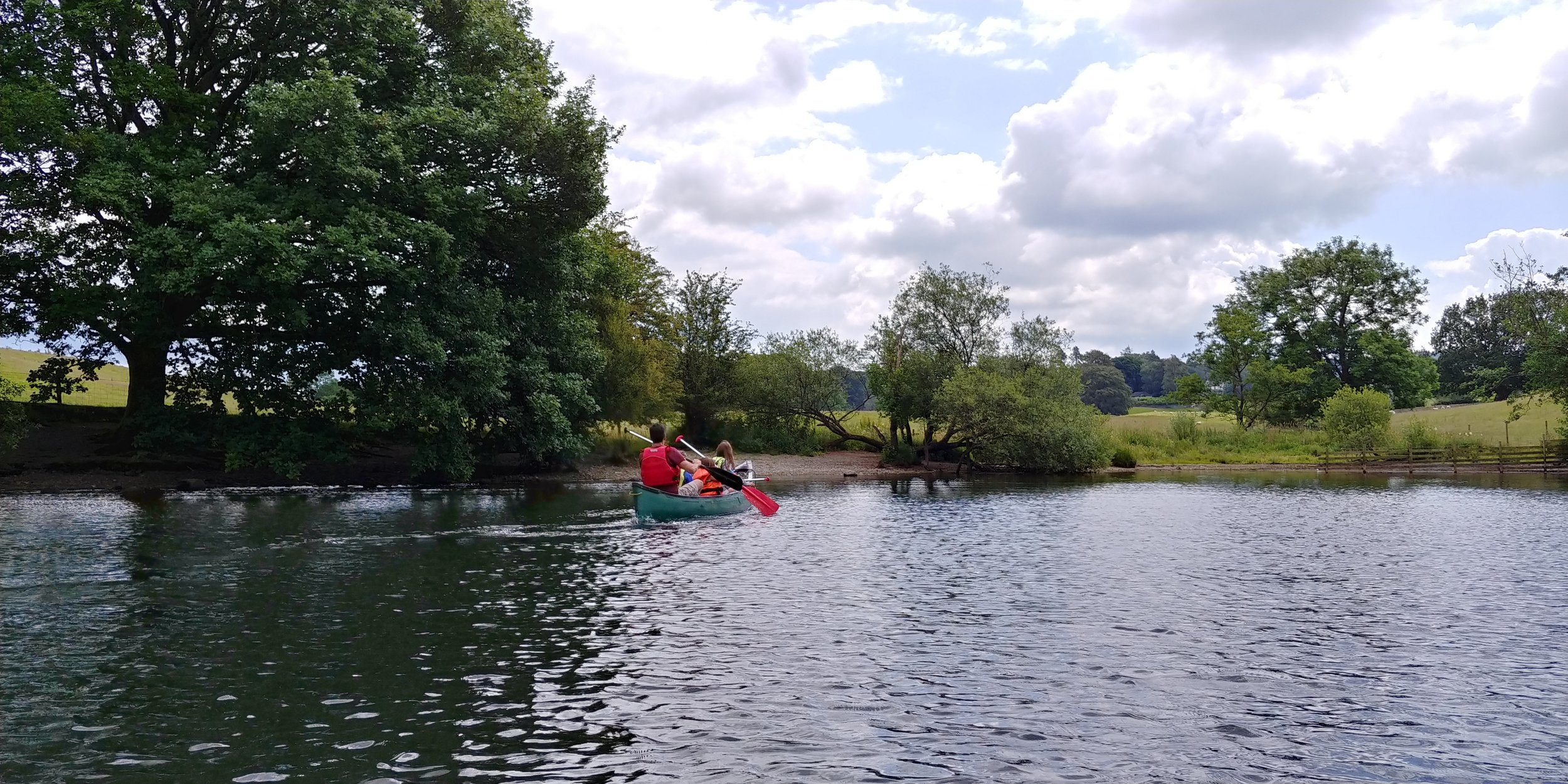 My family in the Canadian canoe.