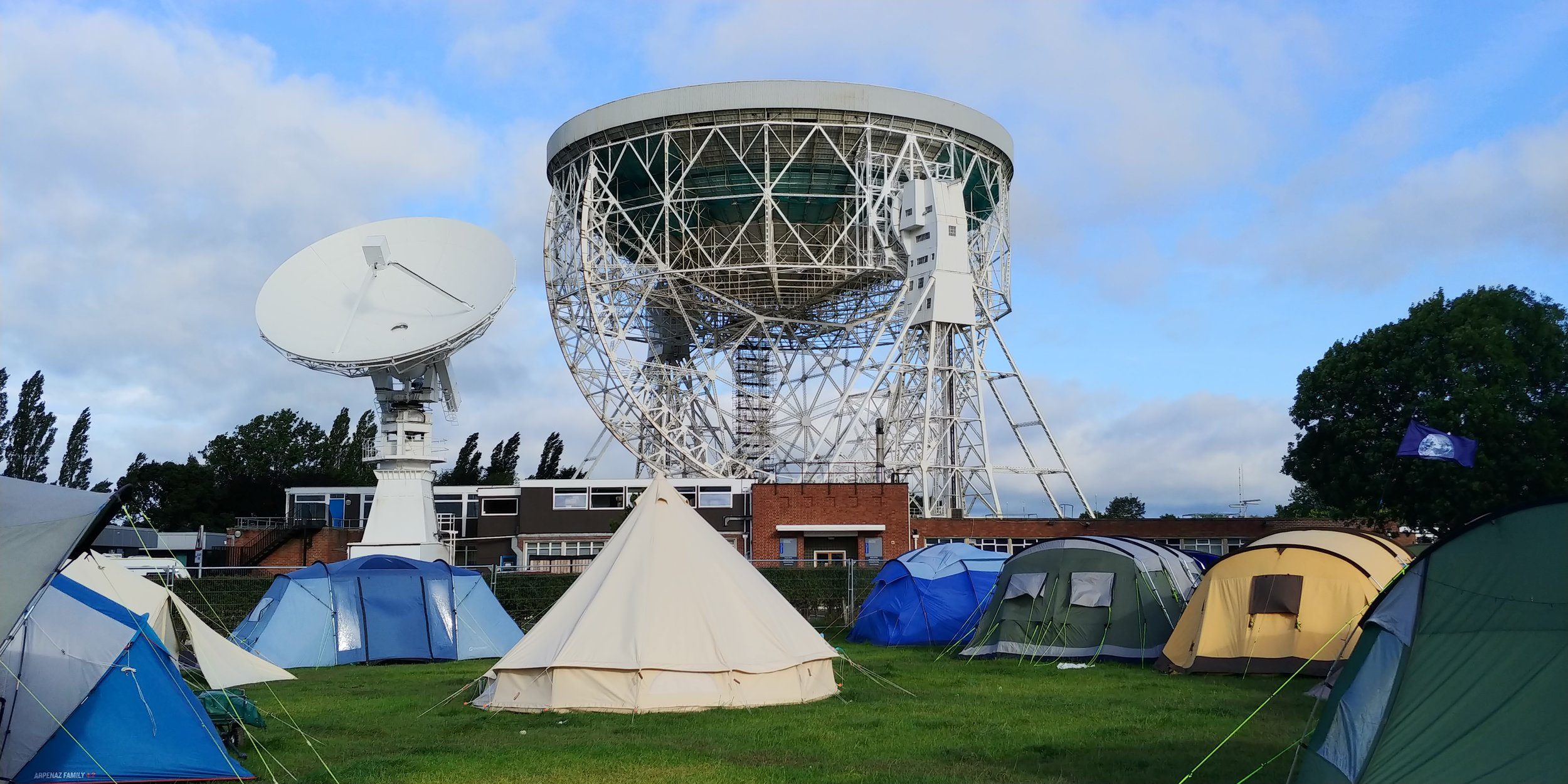 Camping under the Lovell telescope.