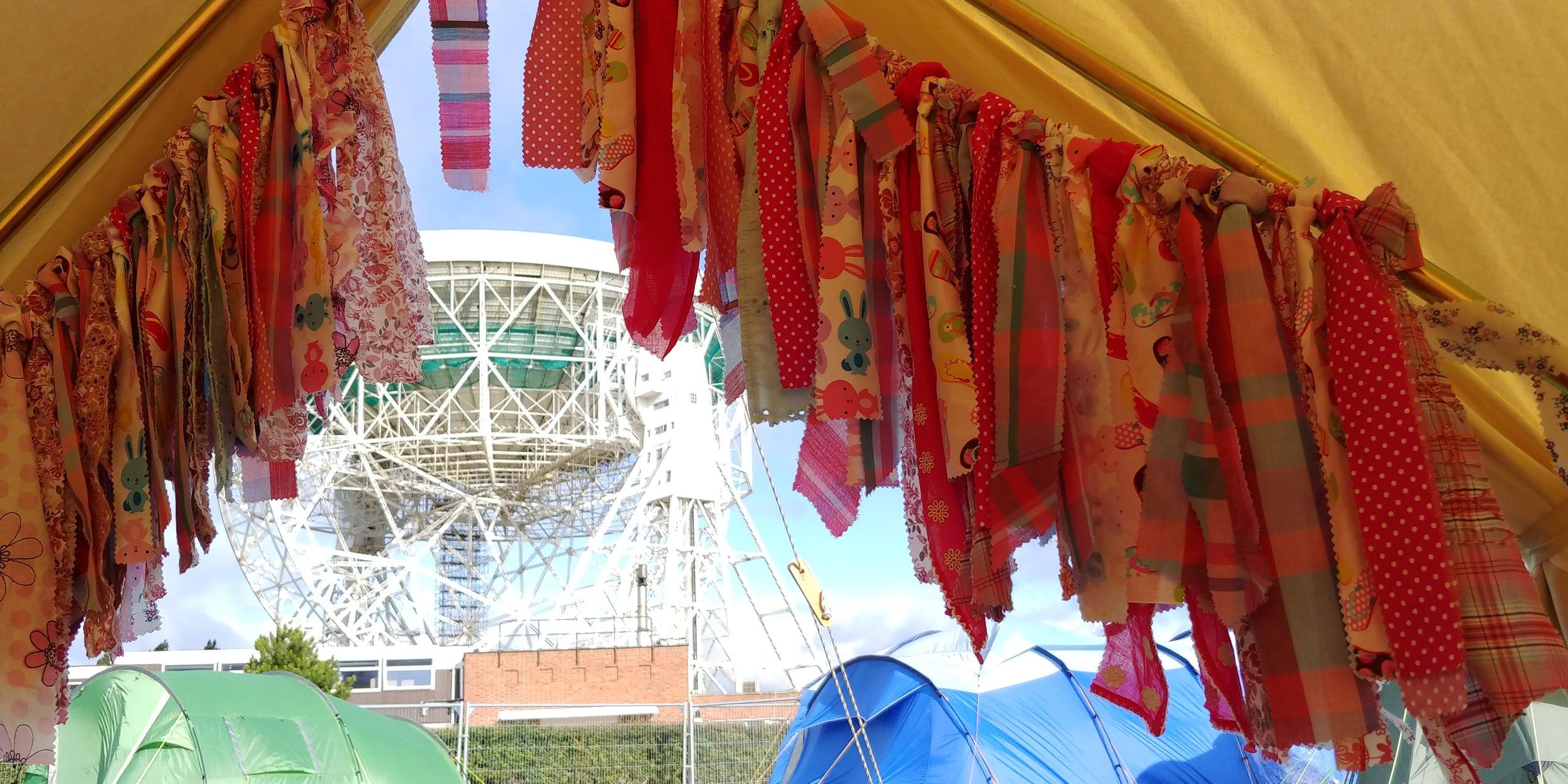 Homemade bell tent fringe - essential festival kit.