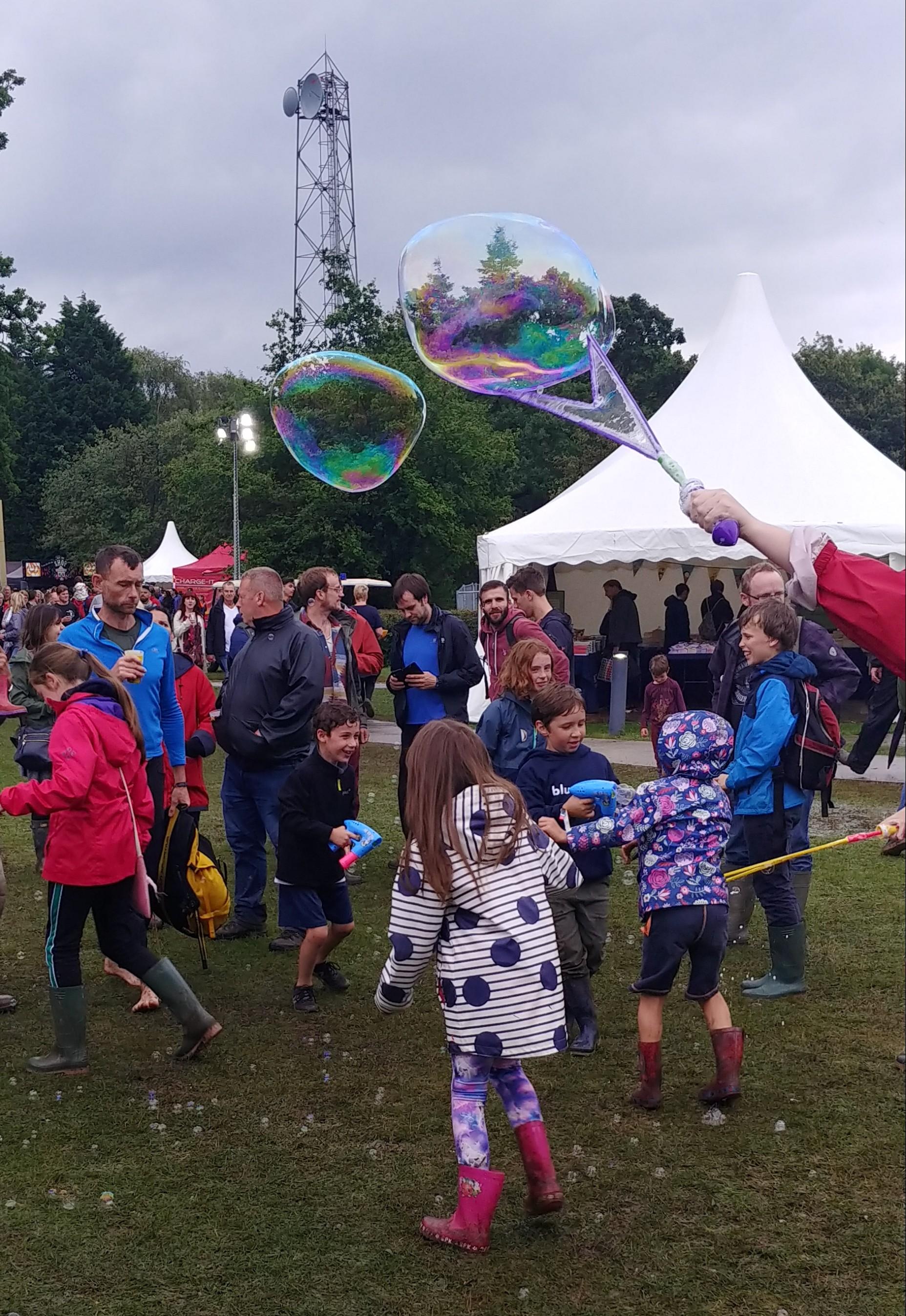 Chasing massive bubbles.