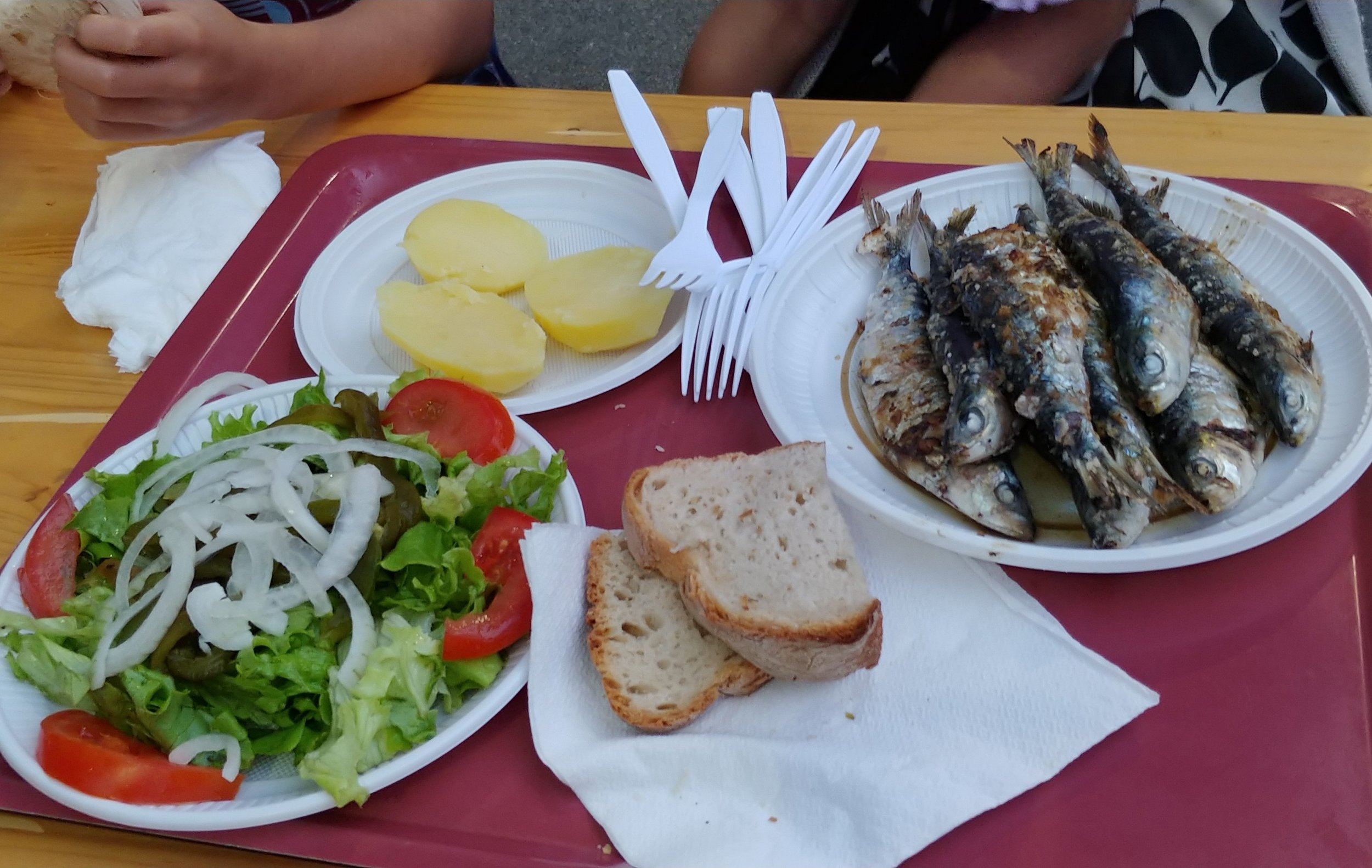 Unsurprisingly, sardines were on the menu.