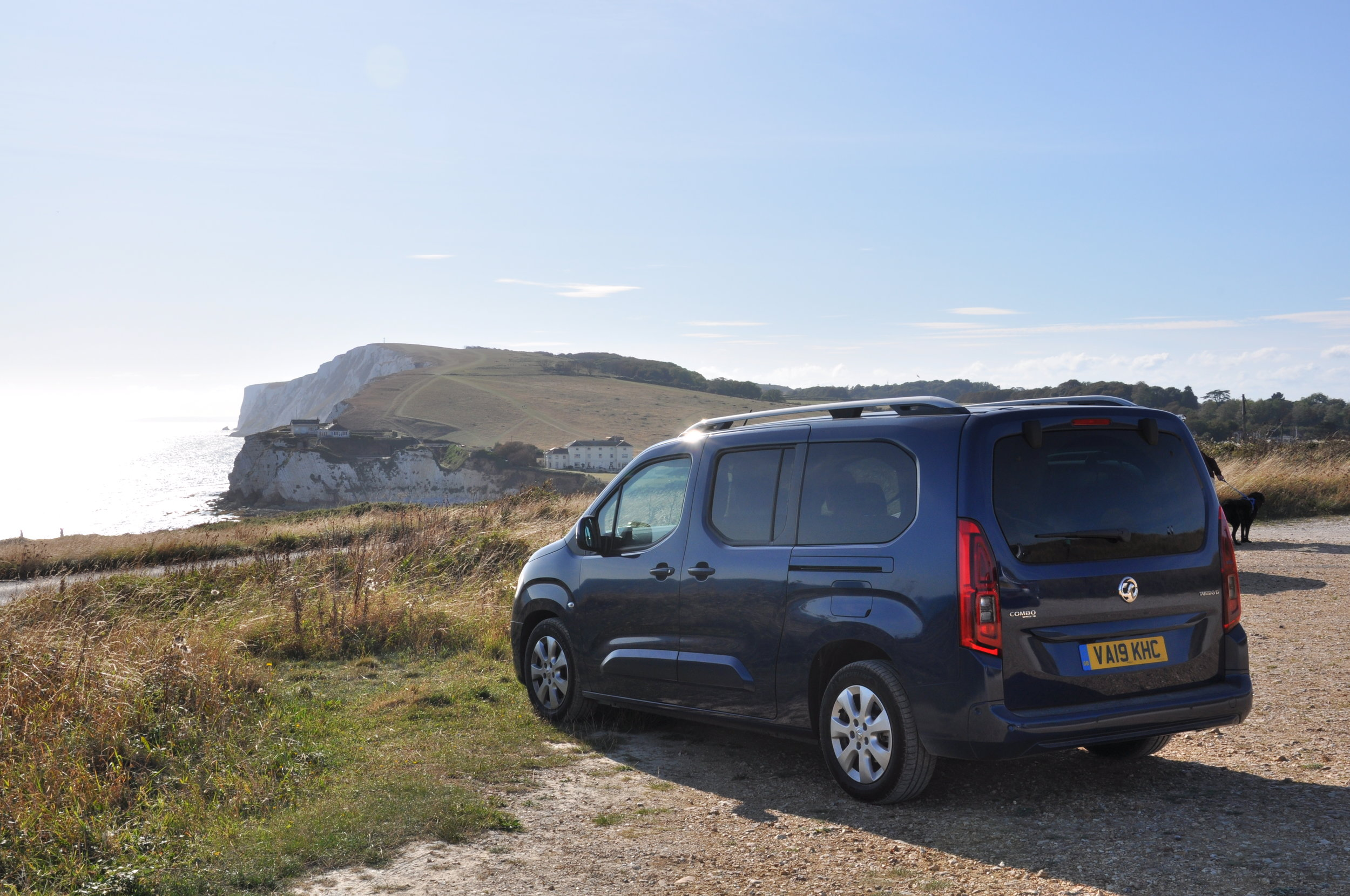 Our van admiring the view in west Wight.