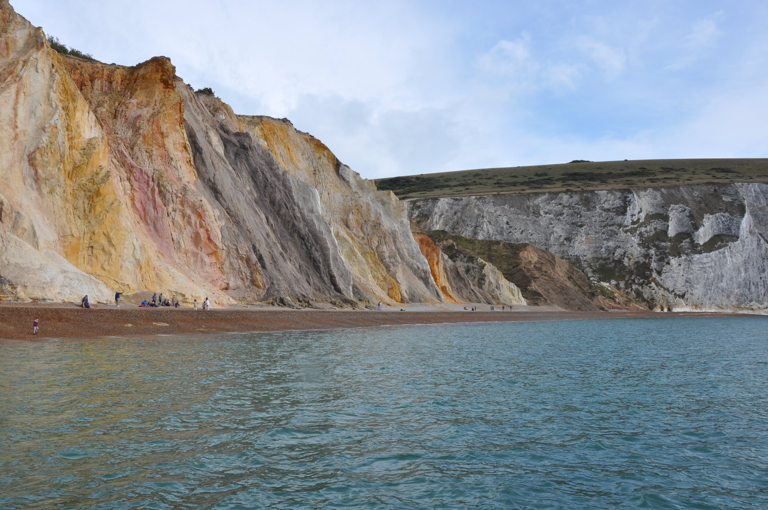 Incredible Alum Bay viewed from aboard the Ramblin' Rose.