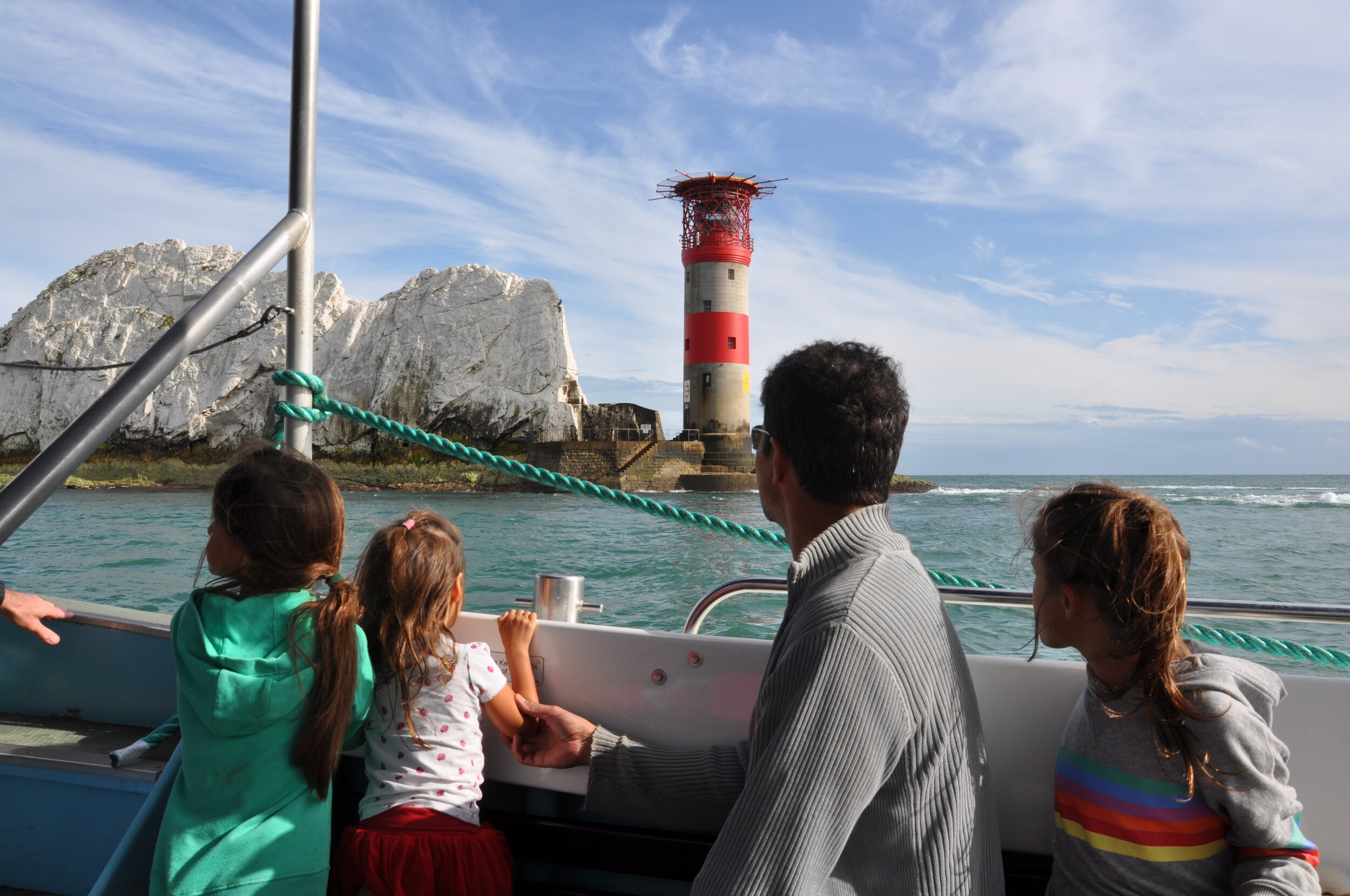 The Needles lighthouse.