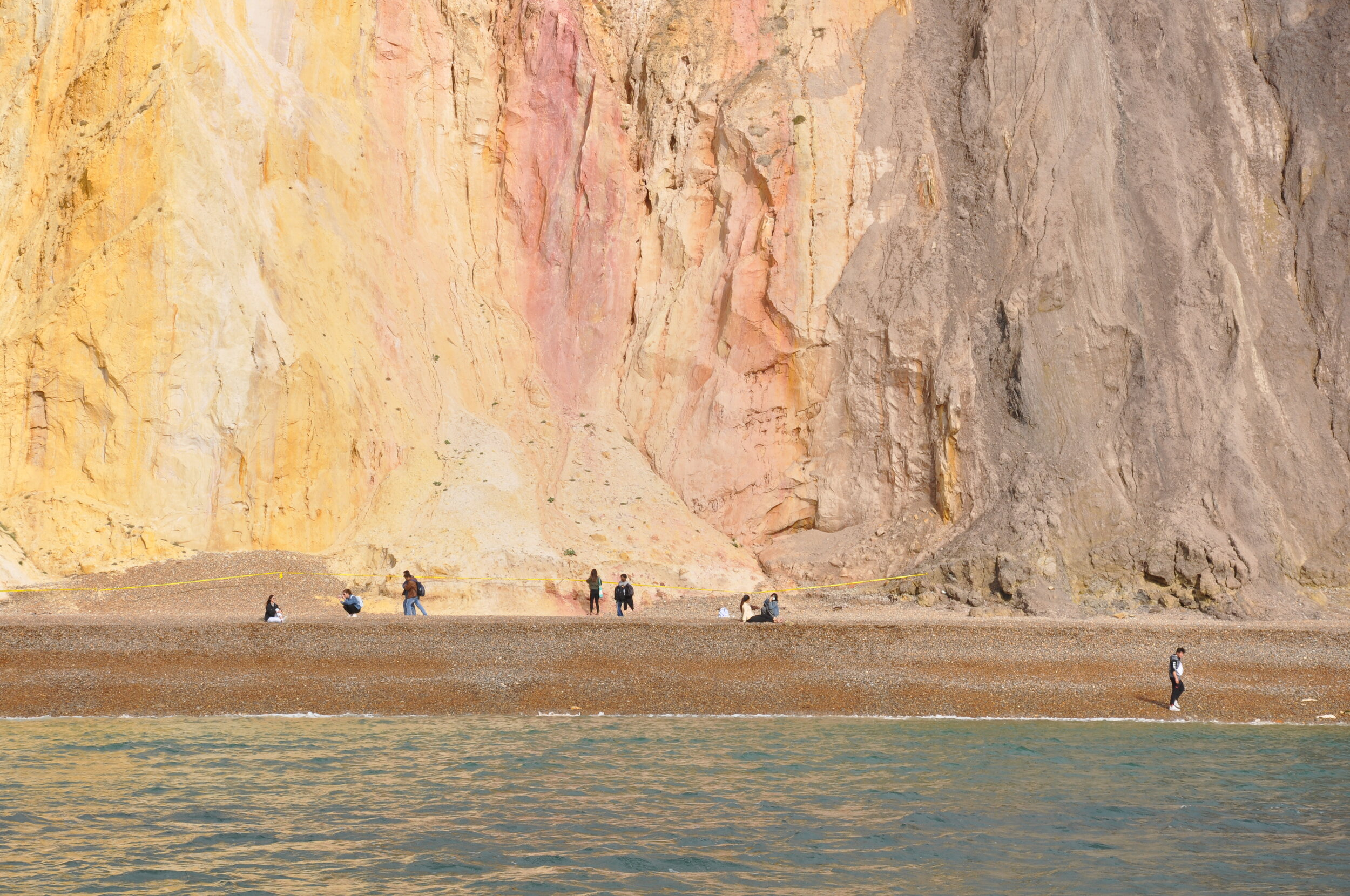 How extraordinary are these cliffs? Like Neapolitan ice cream.