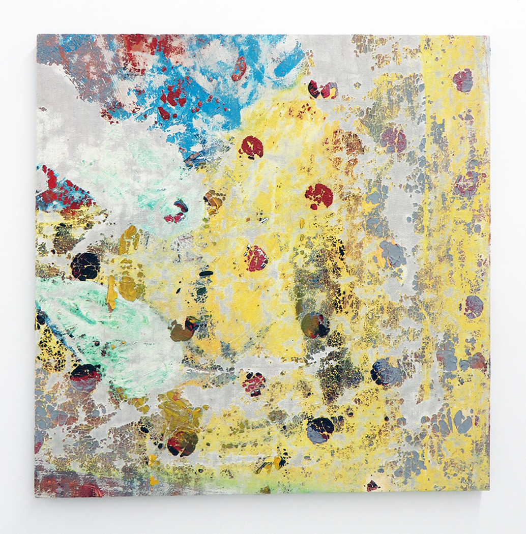 Ajemian, Laundered Painting (25x25) I (email), 2014, painting on dropcloth, 25 x 25 in. 63.5 x 63.5 cm, CNON 54.735.jpg