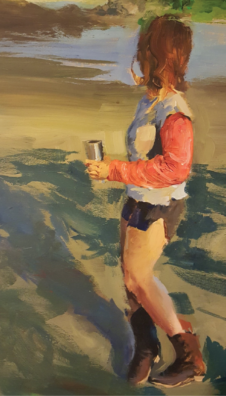 Woman on Beach, Late Afternoon