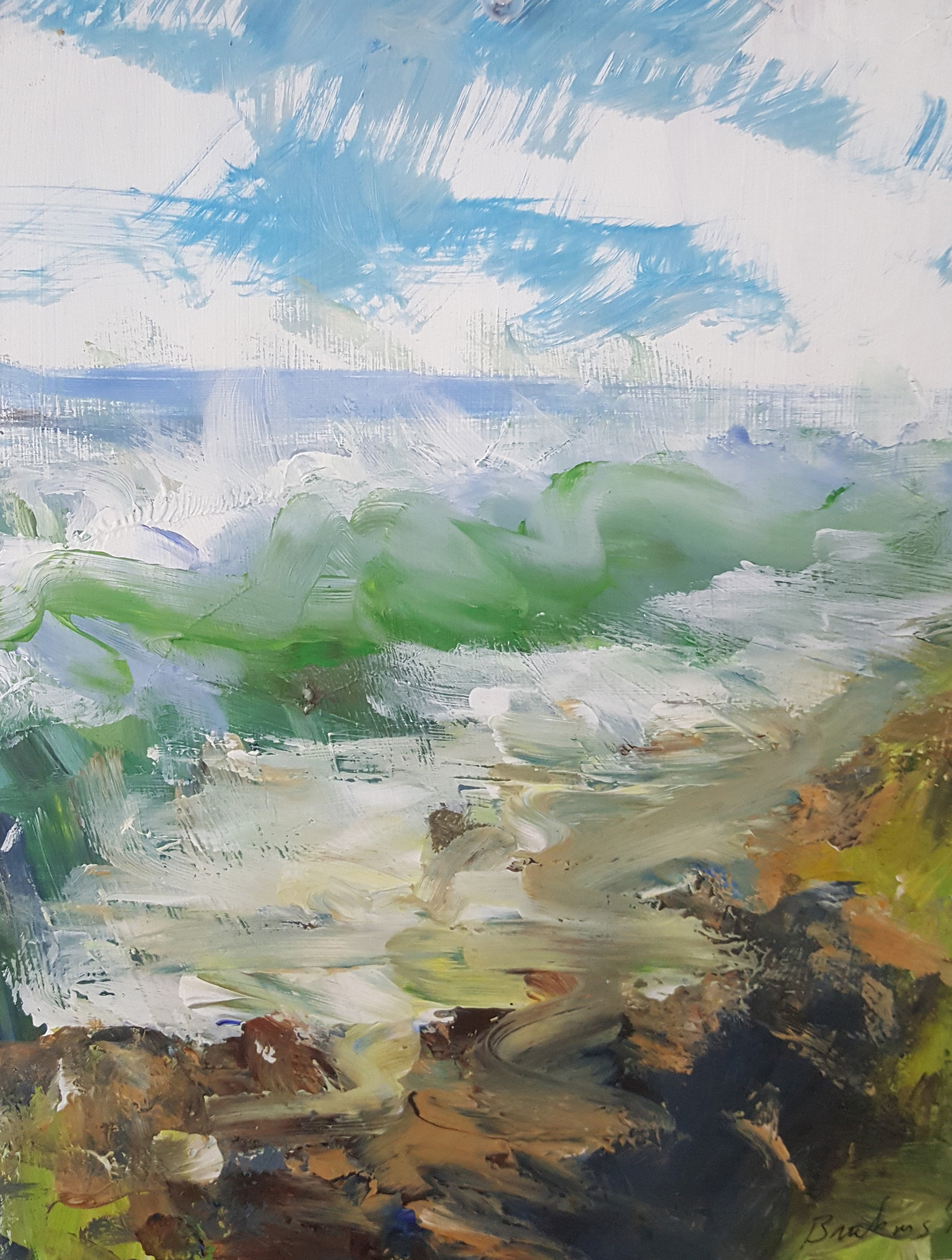 Fingerpainting Seascape