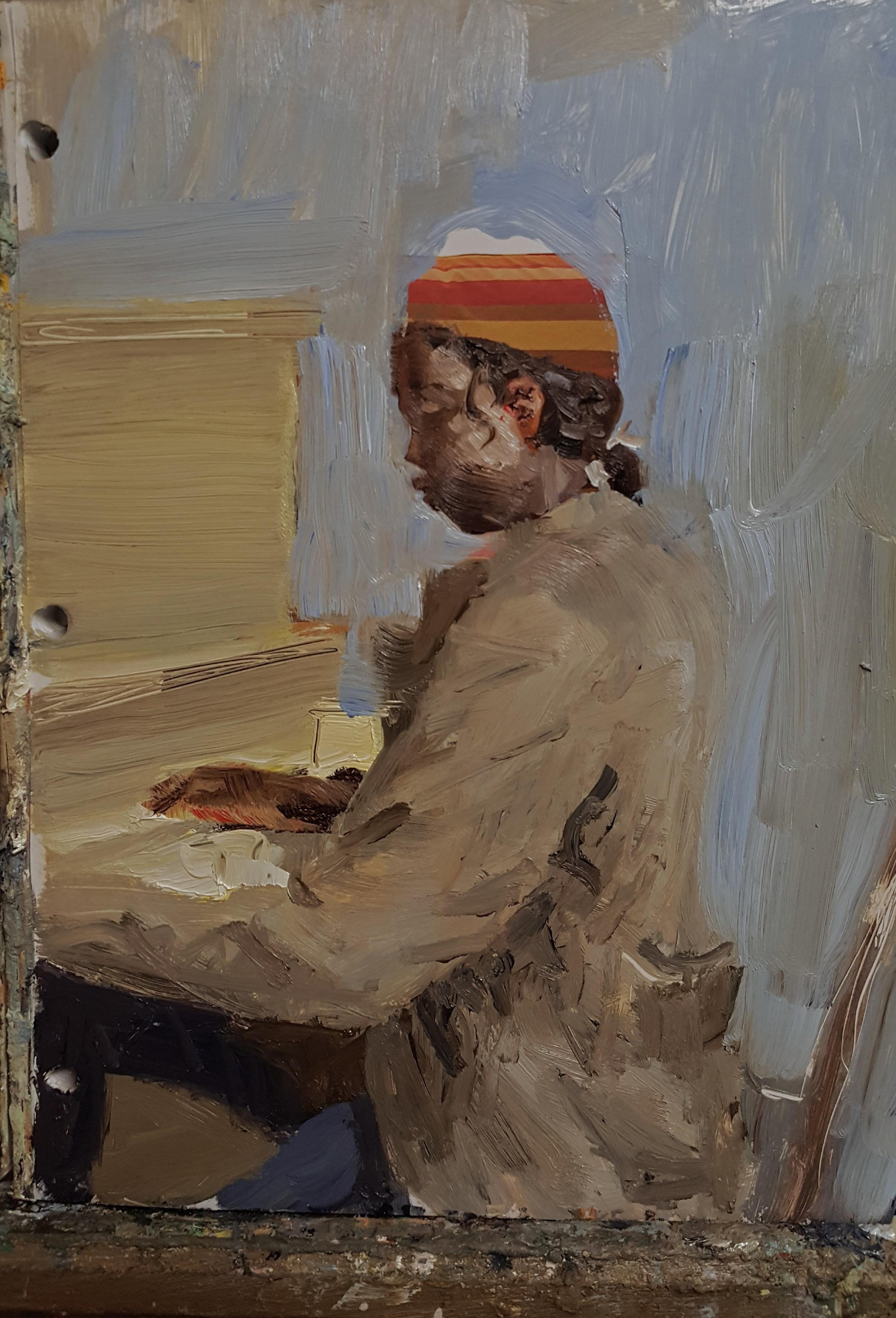 Figure - TribesmanAcrylic on panel12