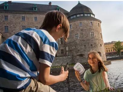 "My News Desk  // Heart of Sweden GeoTour     ""  Join Sweden's biggest treasure hunt!  "" (localized)"
