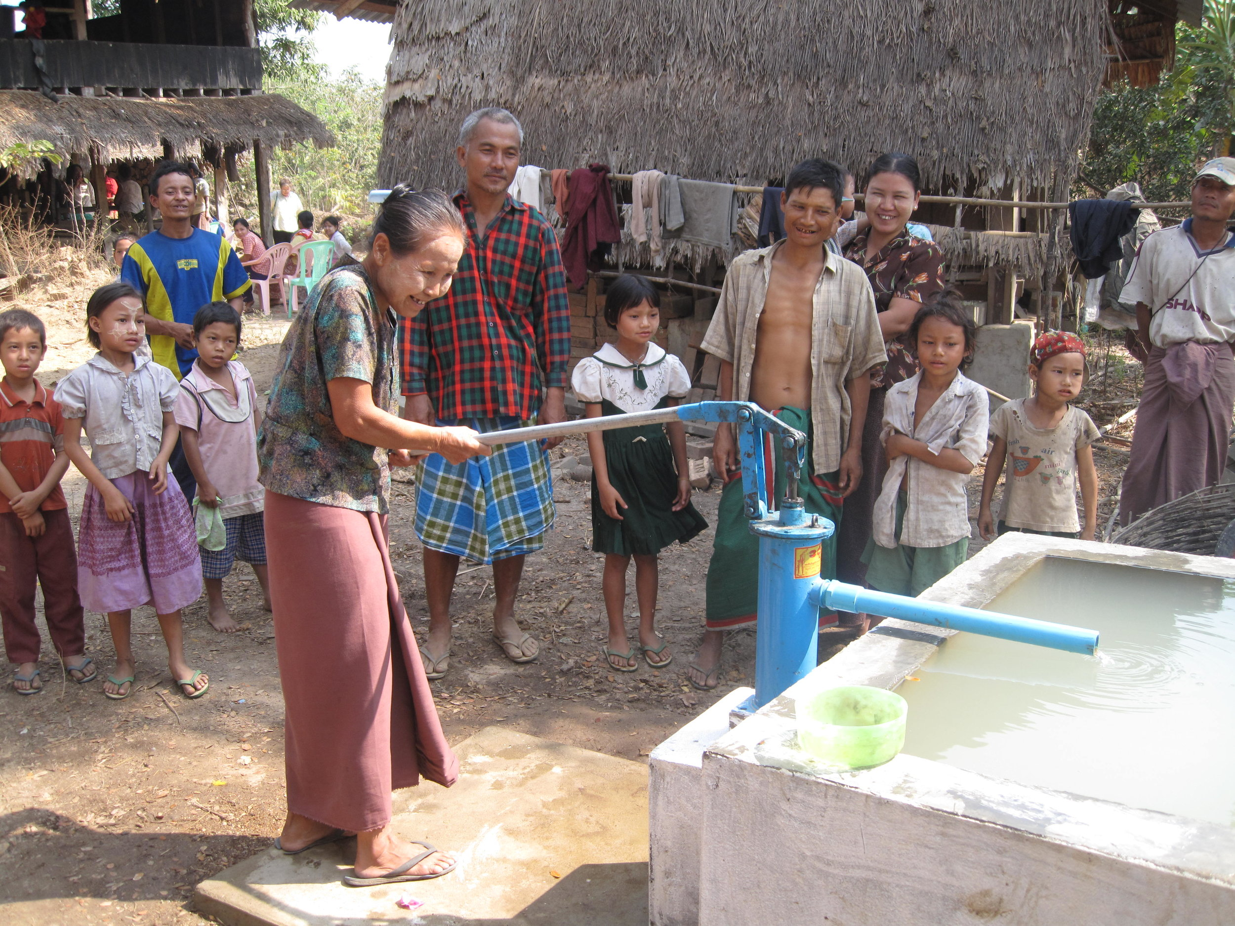 A new clean water well betters the lives for generations of Myanmarese people