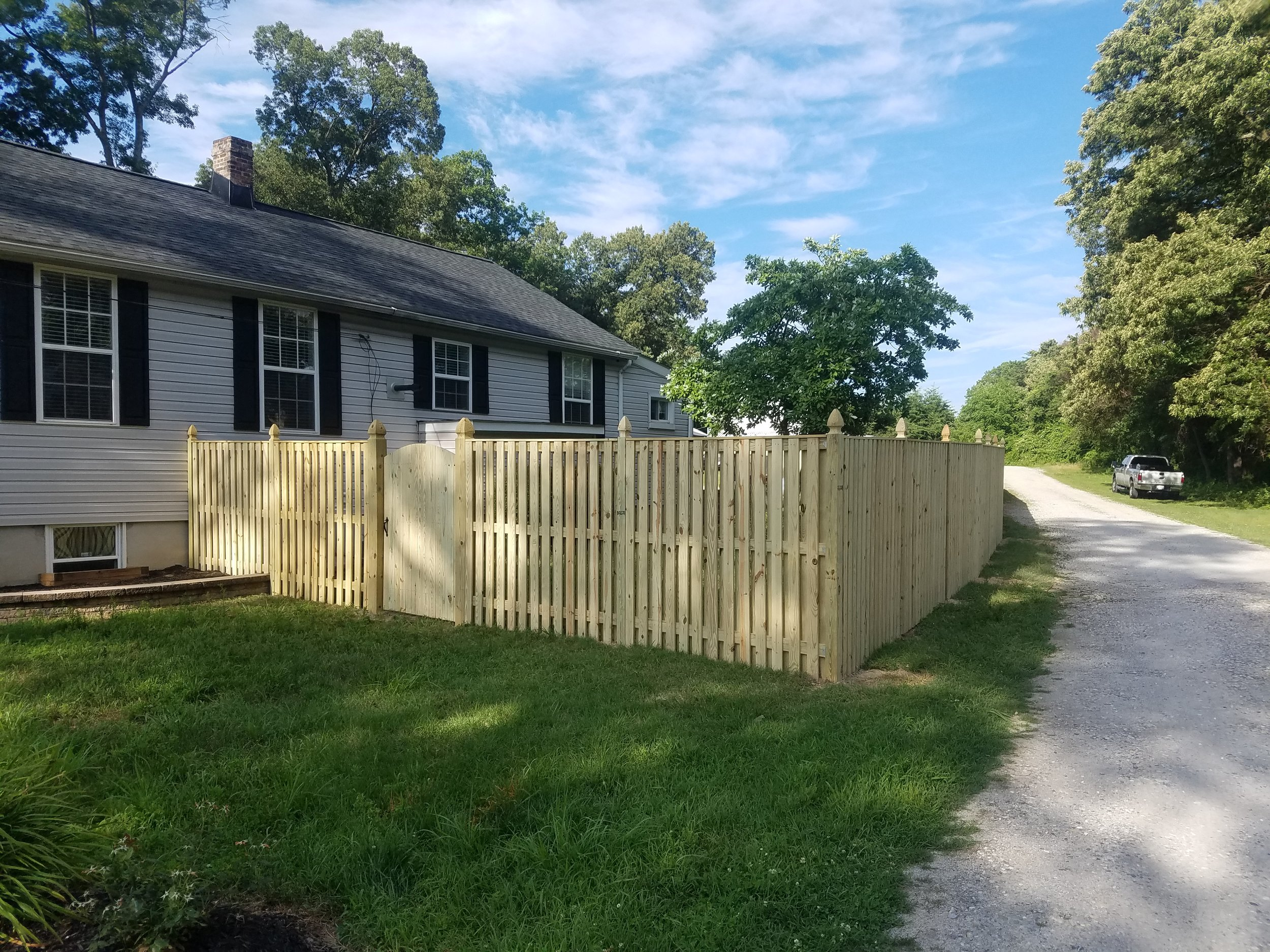 Tall wooden Fence