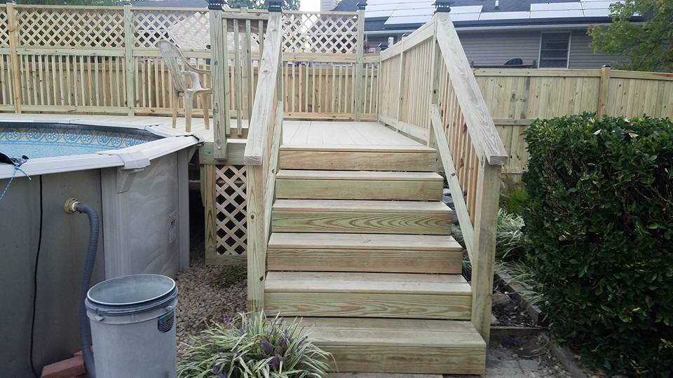 Wood Stairs and Deck
