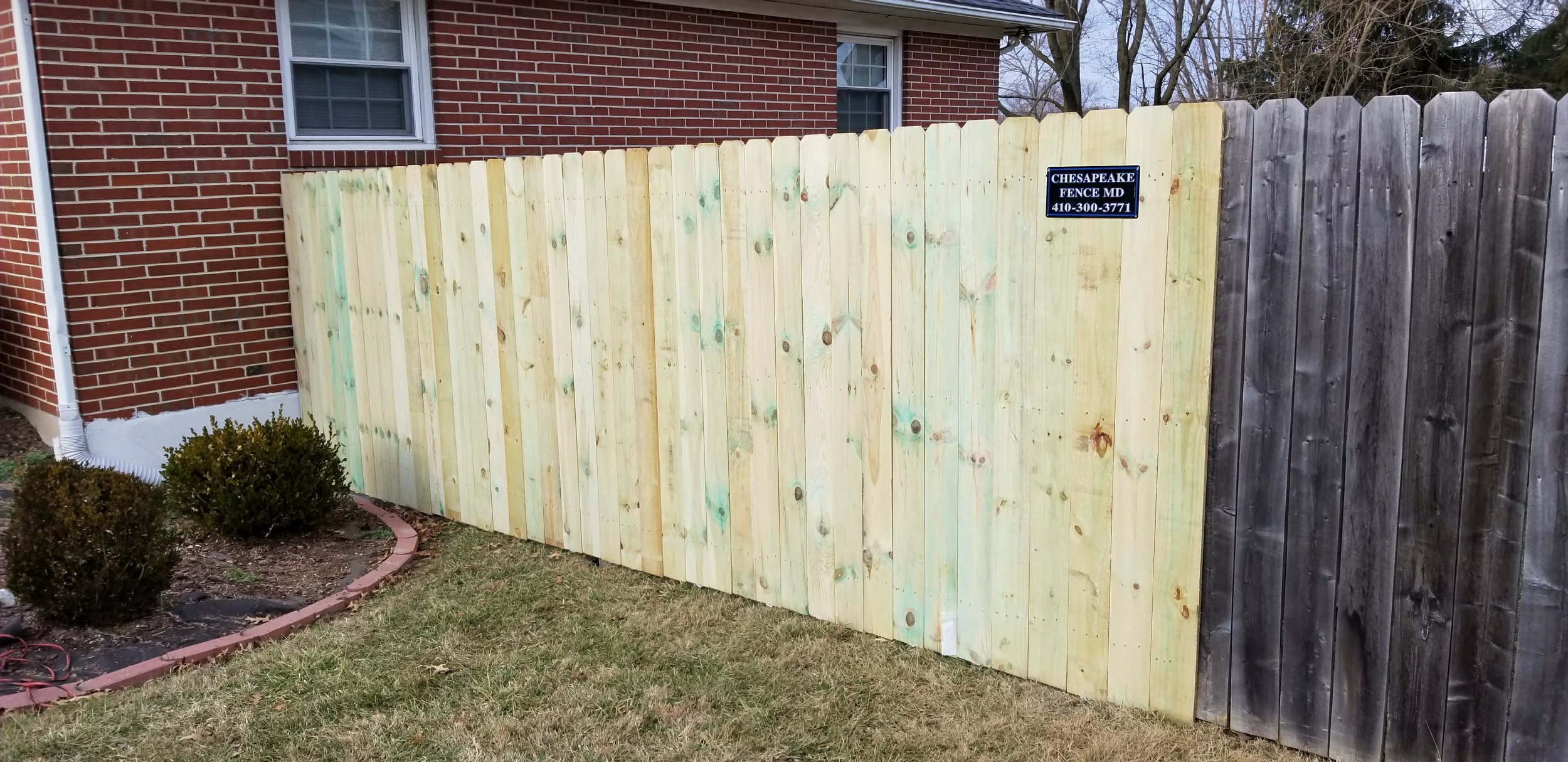 Wooden Tall Fence