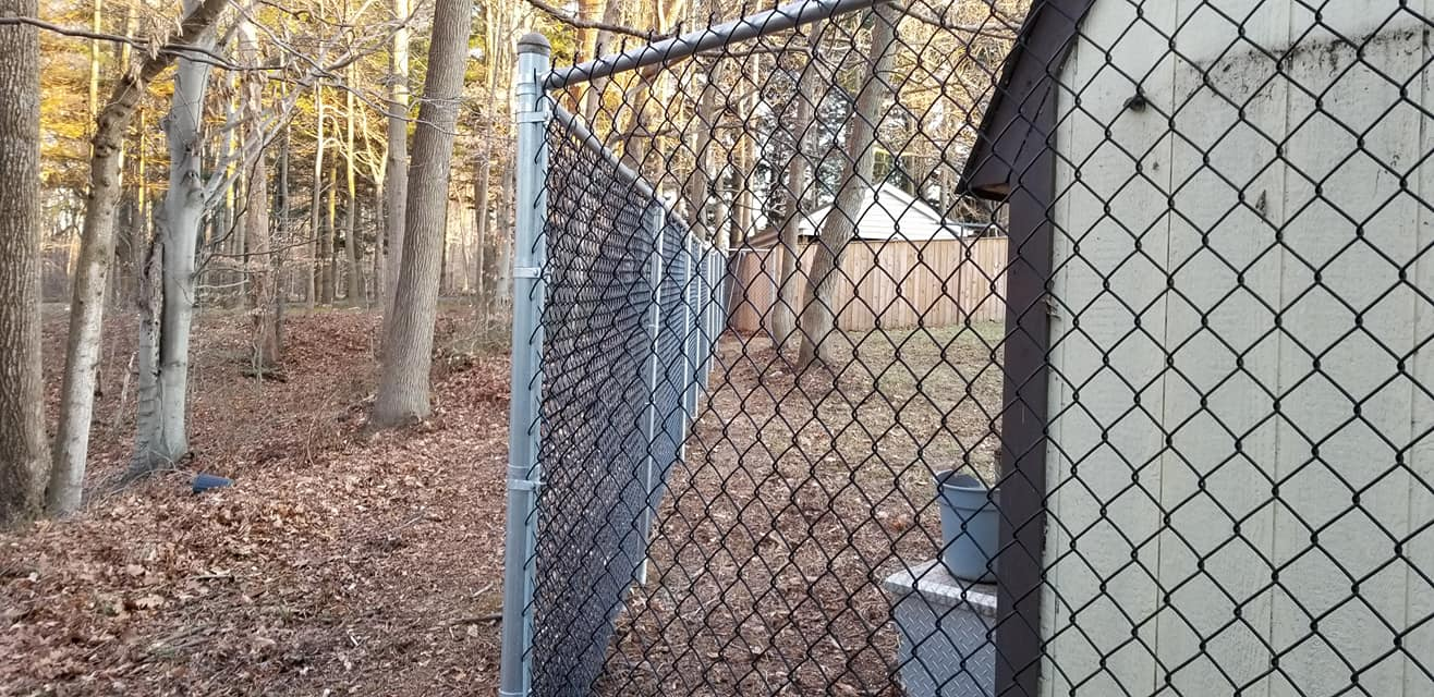 Tall Chain Link Property Fence