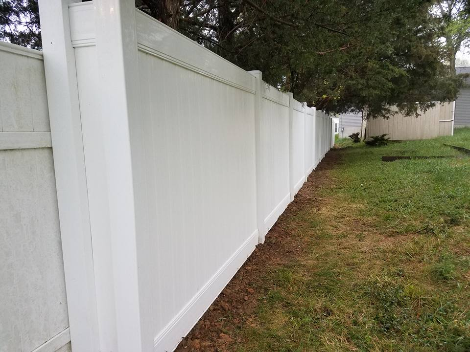 Tall Vinyl Yard Fence