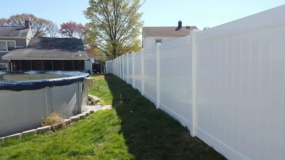 Tall Vinyl Fence