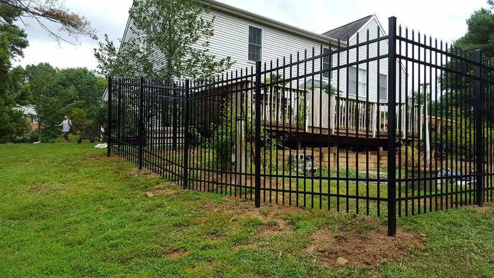 Tall Aluminum Yard Fence
