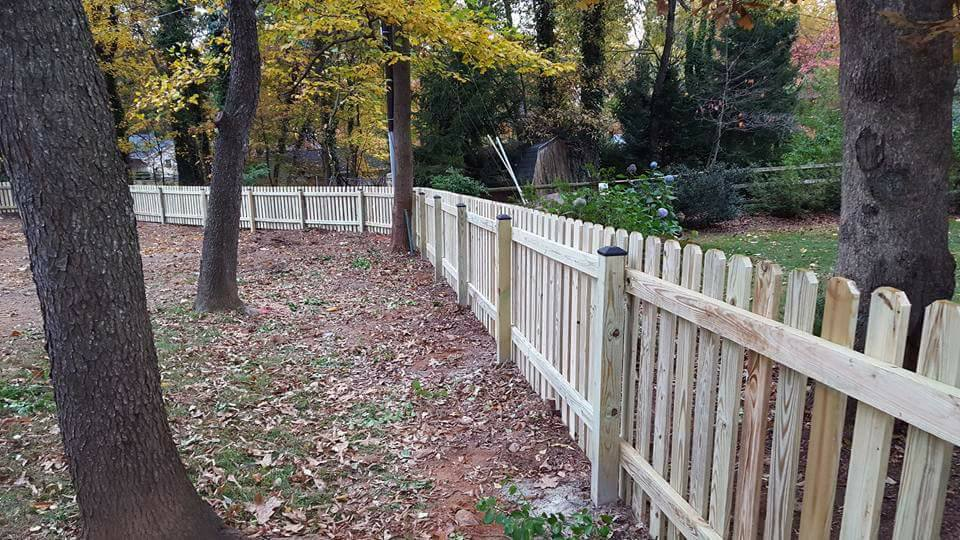 Yard Fence made from Wood
