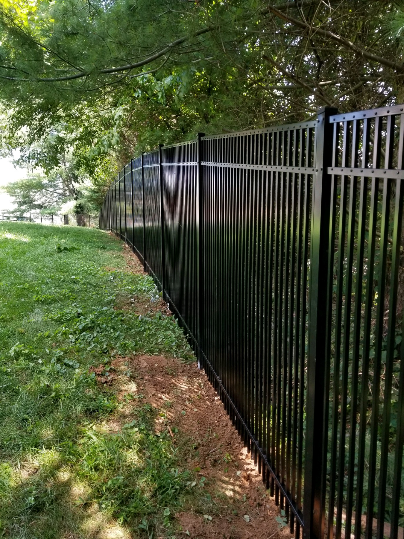 Long Aluminum Fence