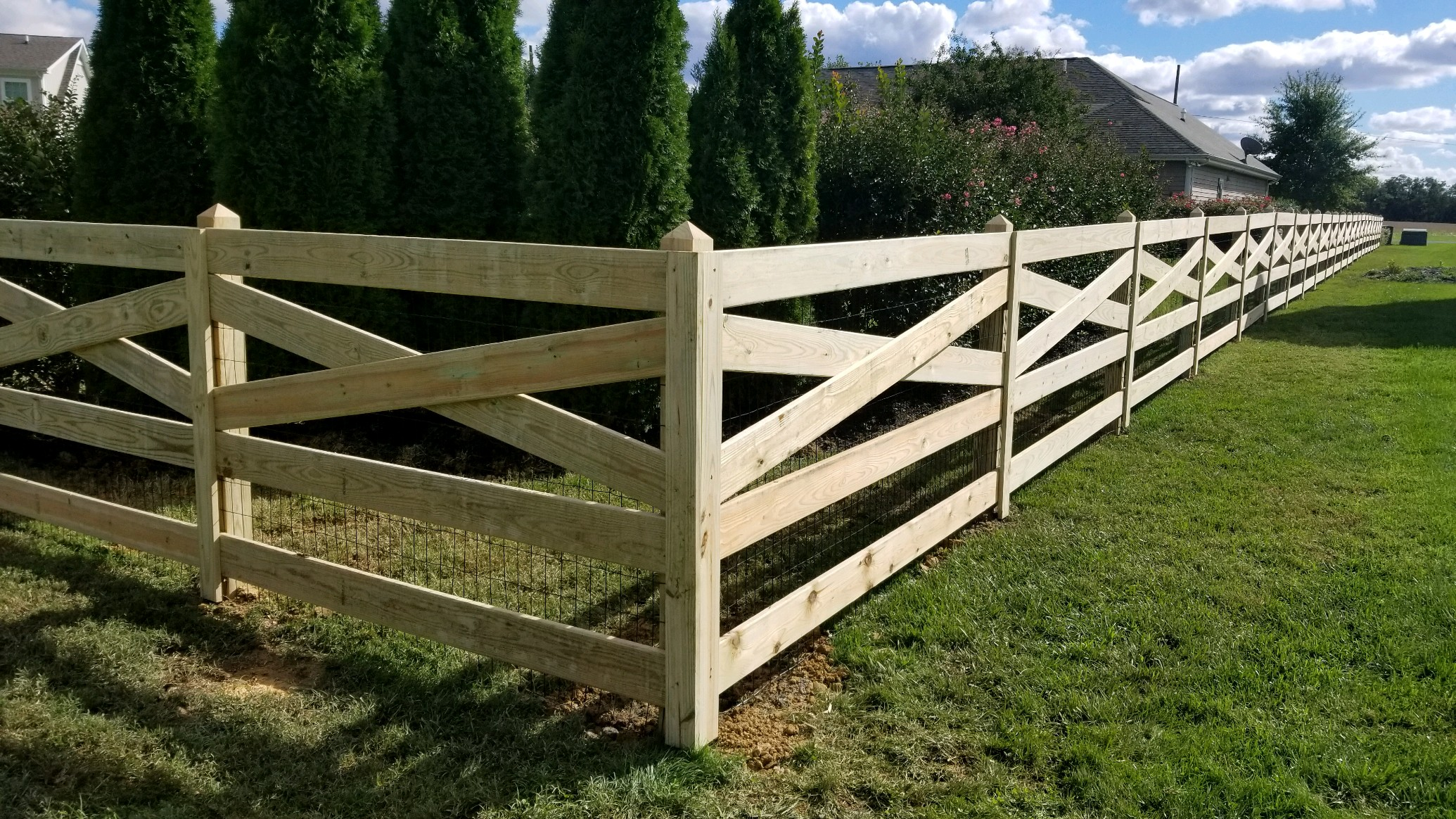 Short Wood Fencing