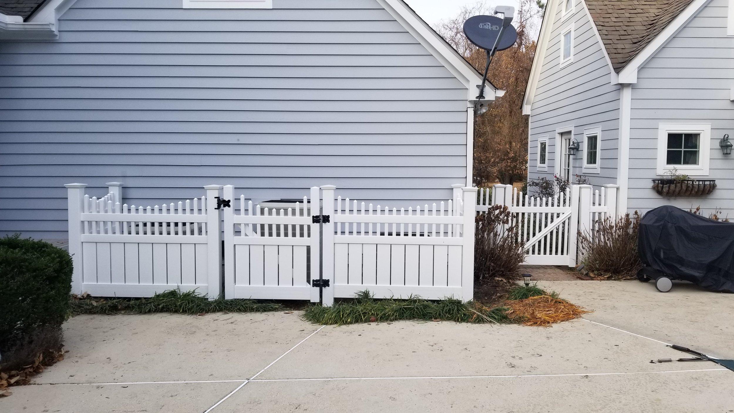 Short Vinyl Fence