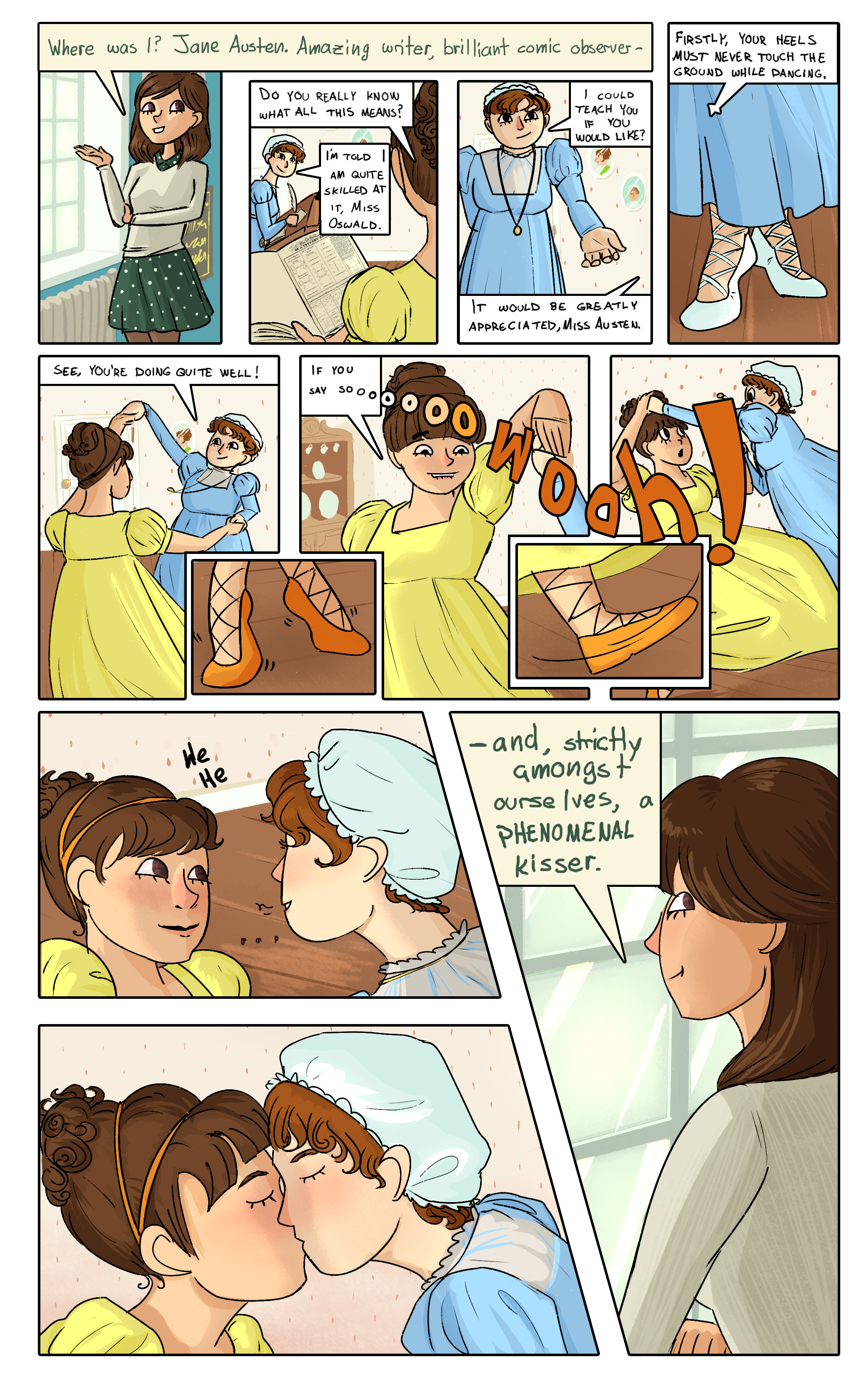 A short comic about Clara I did for a charity fanart book.