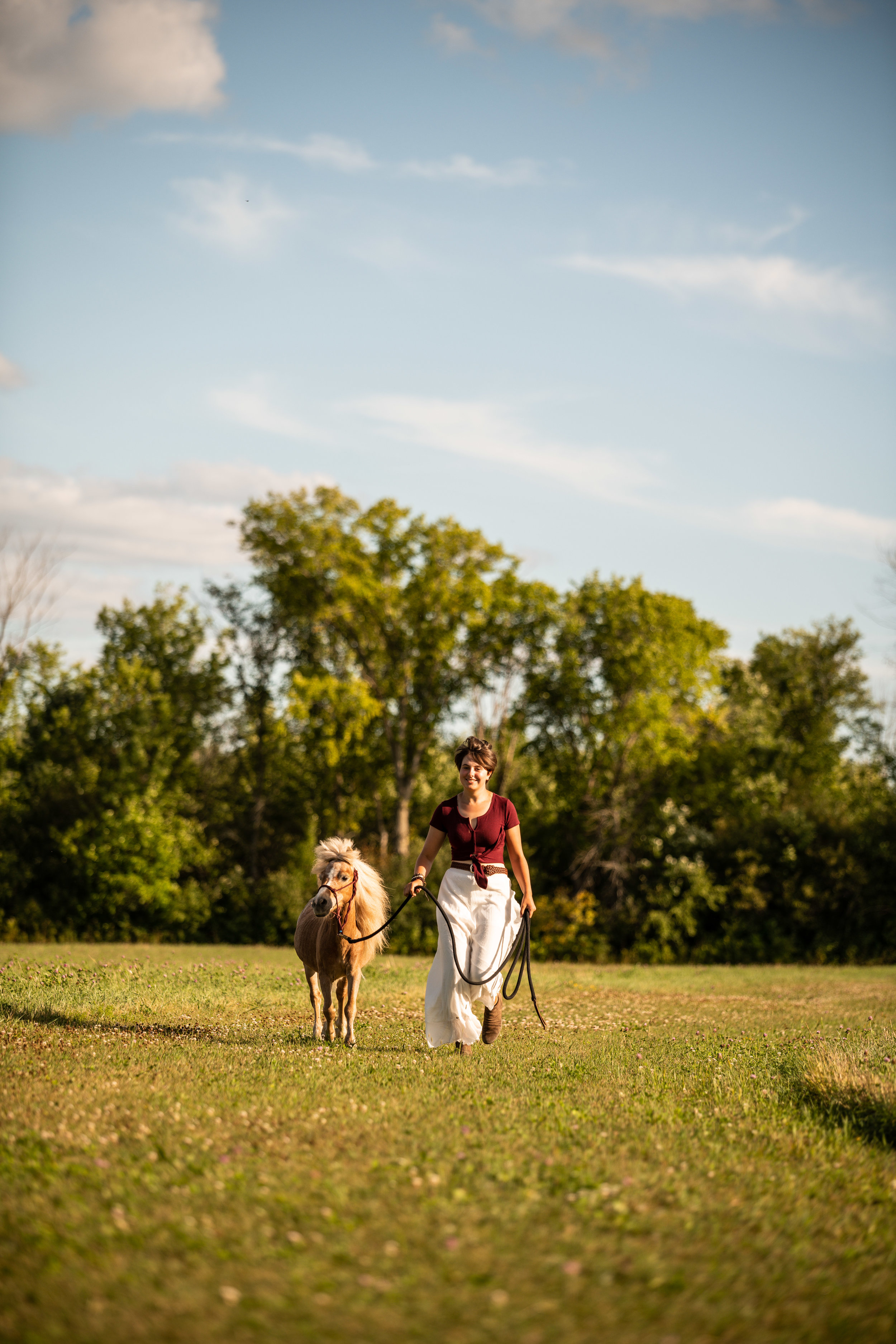 A girl and her mini horse