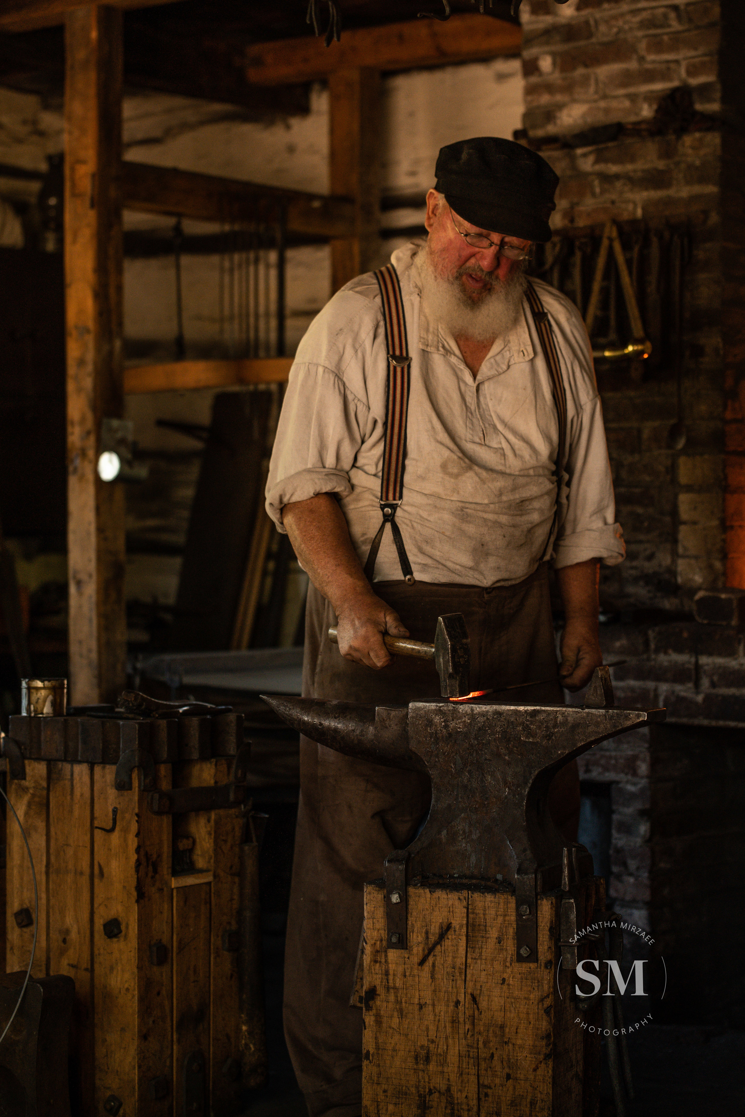 Blacksmith demonstration at Upper Canada Village