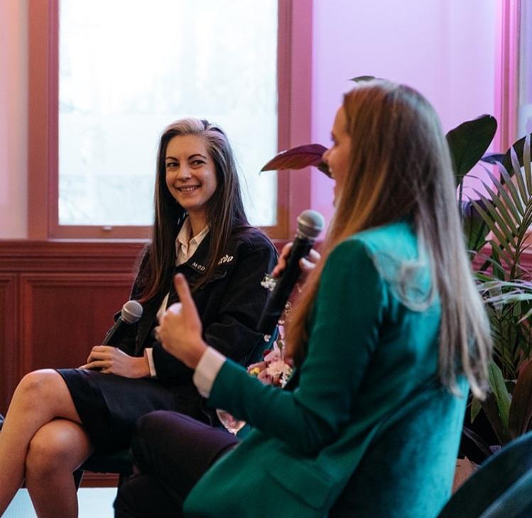Saskia & Jen speaking at Tuxedo.Melbourne