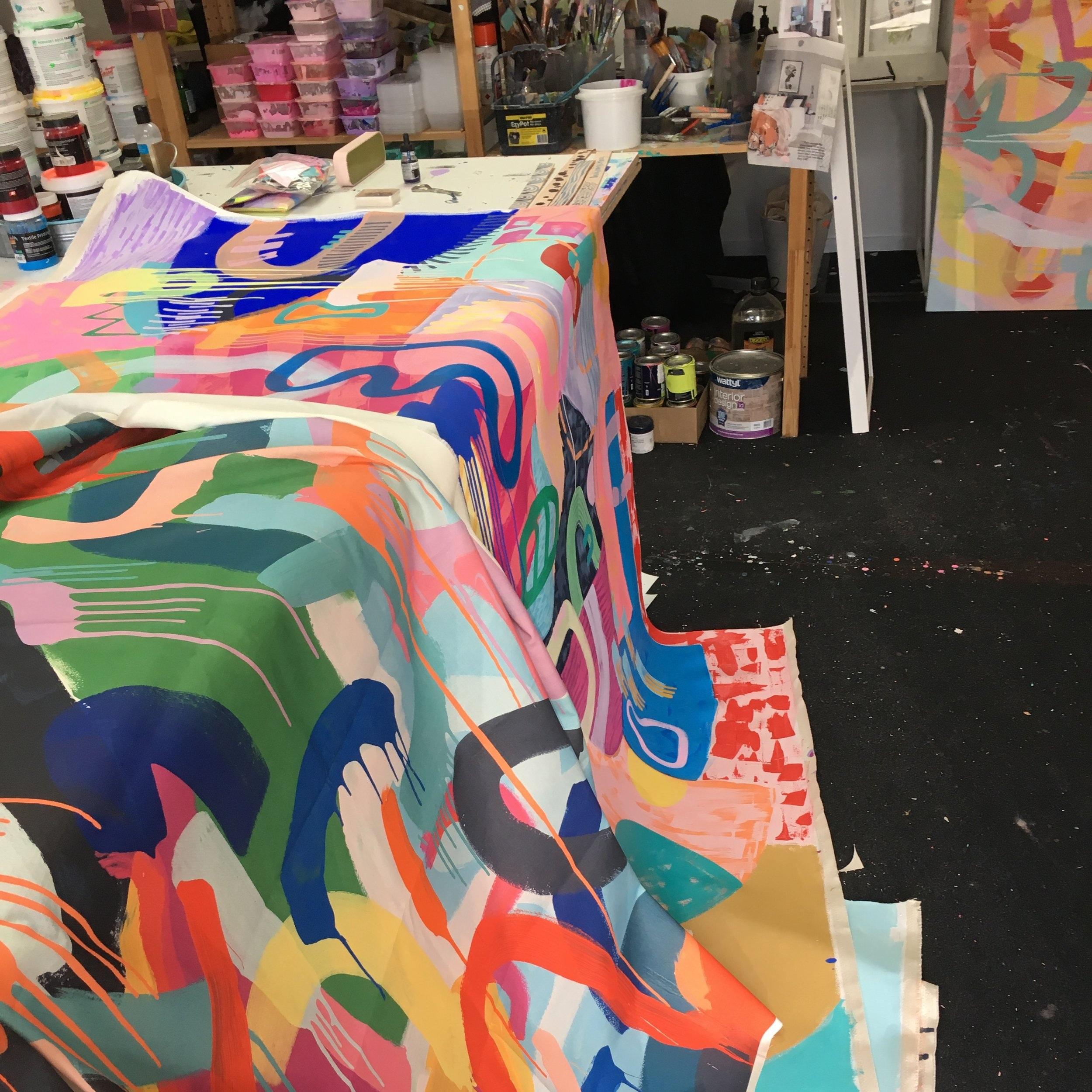 Inside  Tiff Manuell's Studio  in Adelaide Australia.