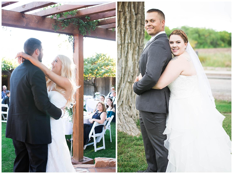 Koinonia Gardens in Albuquerque, Sandia Lakes in Albuquerque, Sunflowers, Bridal Portraits, First dance.