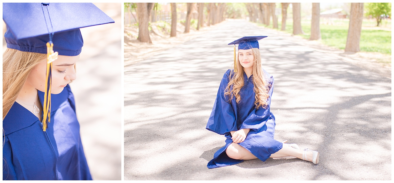 Homeschooled cap and gown shoot, Corrales  New Mexico, Senior