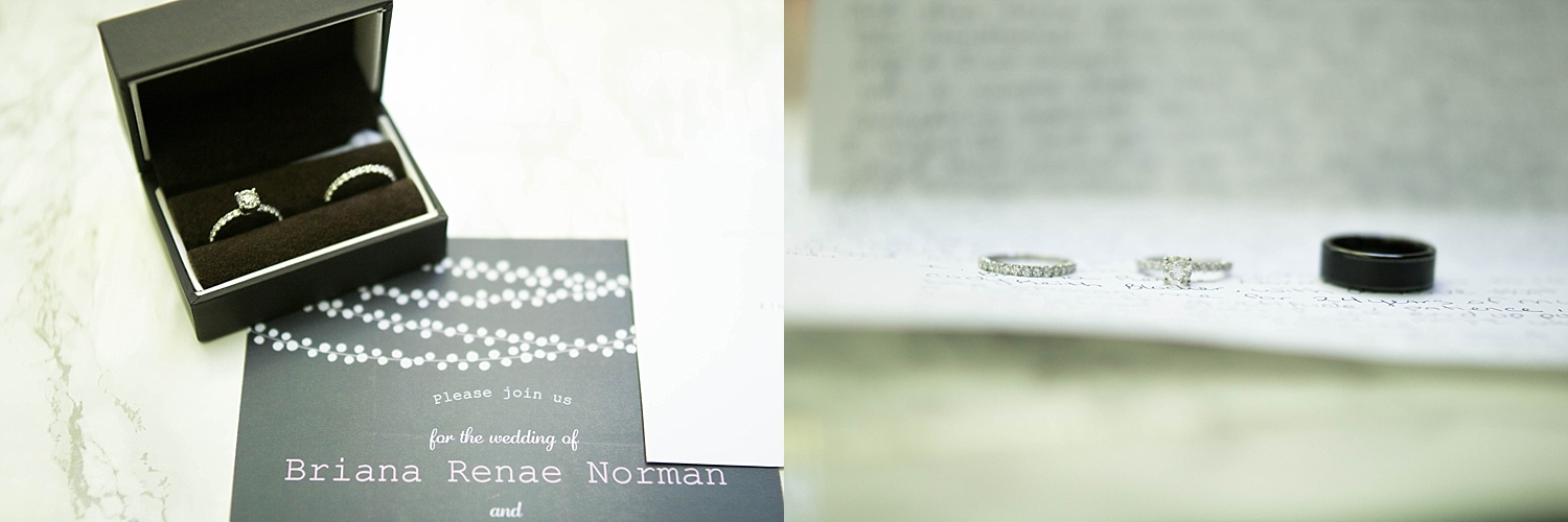 Beautiful shots of the ring on the wedding invitation, and on the letter from the bride to the groom.