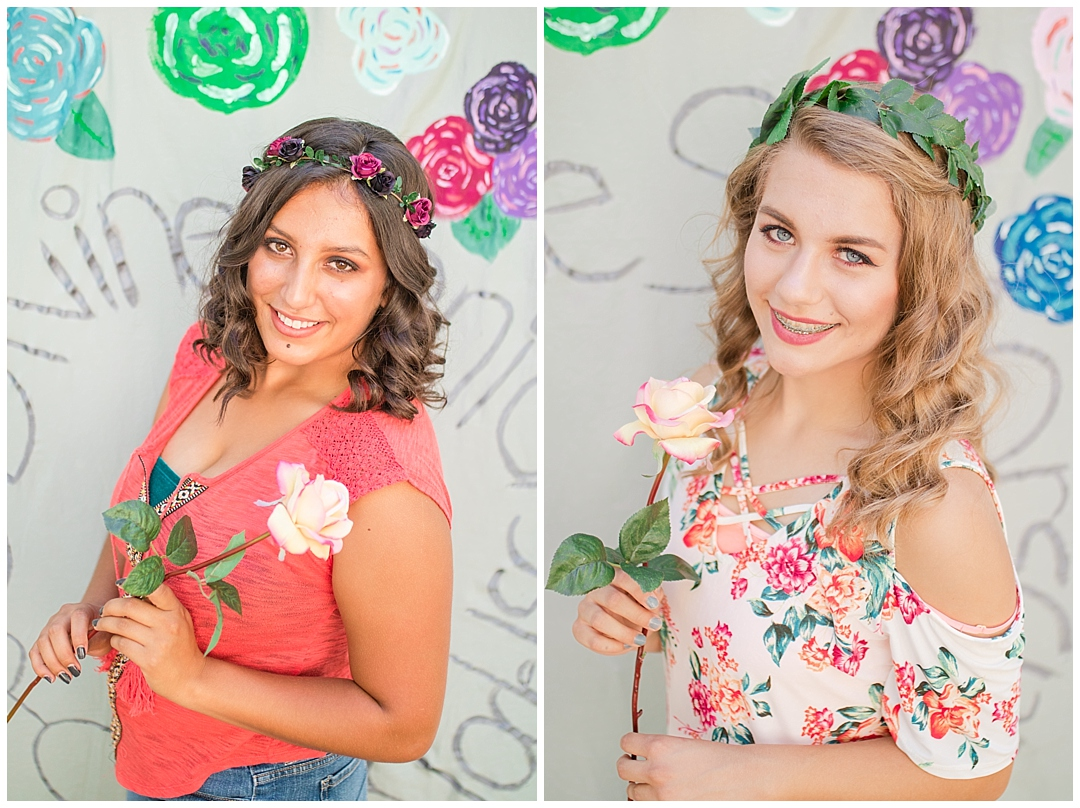 Flower crowns and roses.