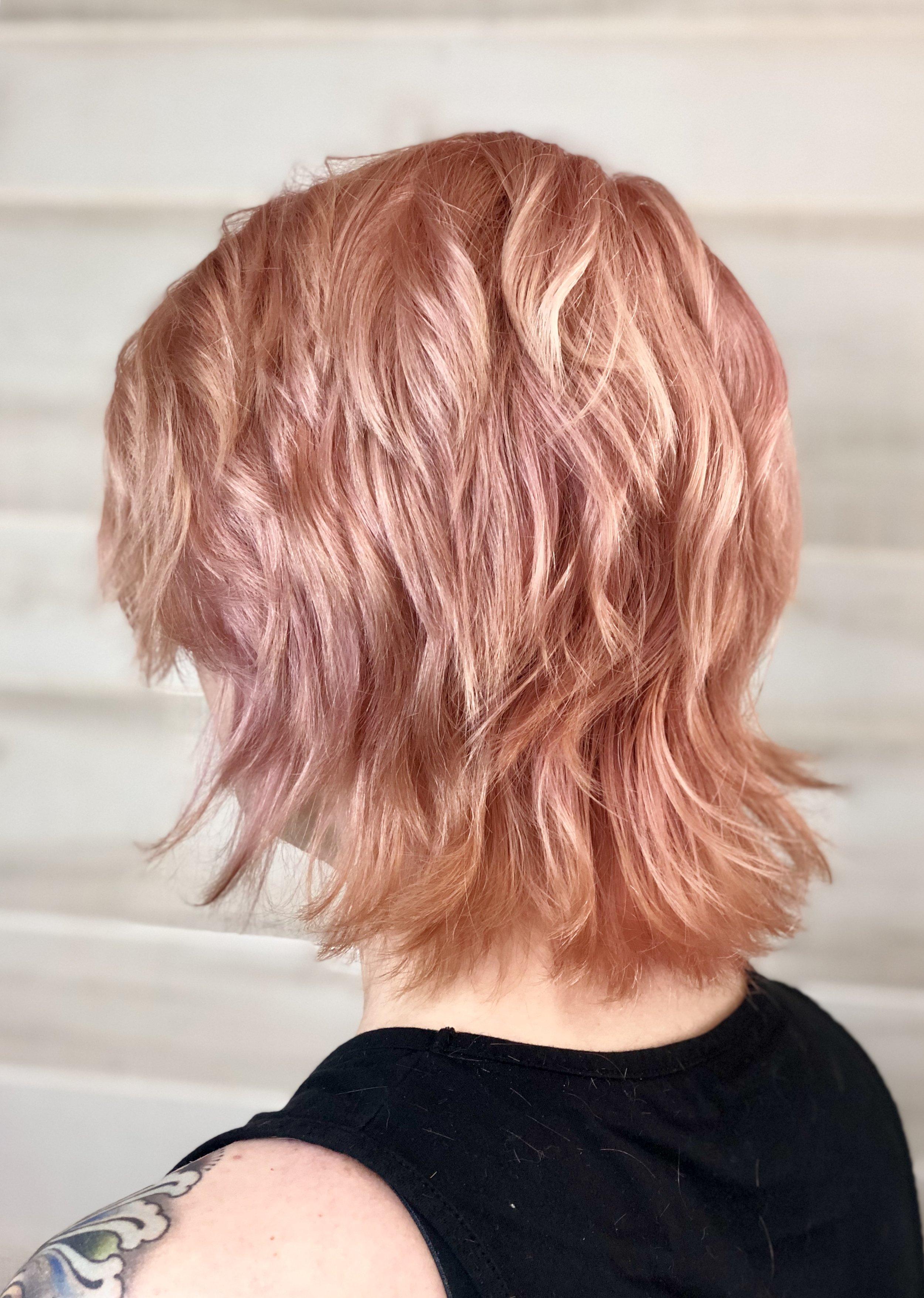 Rose Gold Modern Shag