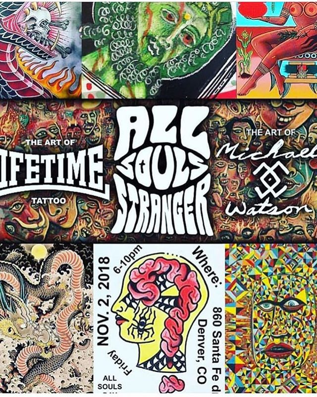 This Friday the homies @lifetimetattoodenver are having an art show that you don't wanna miss out on!!