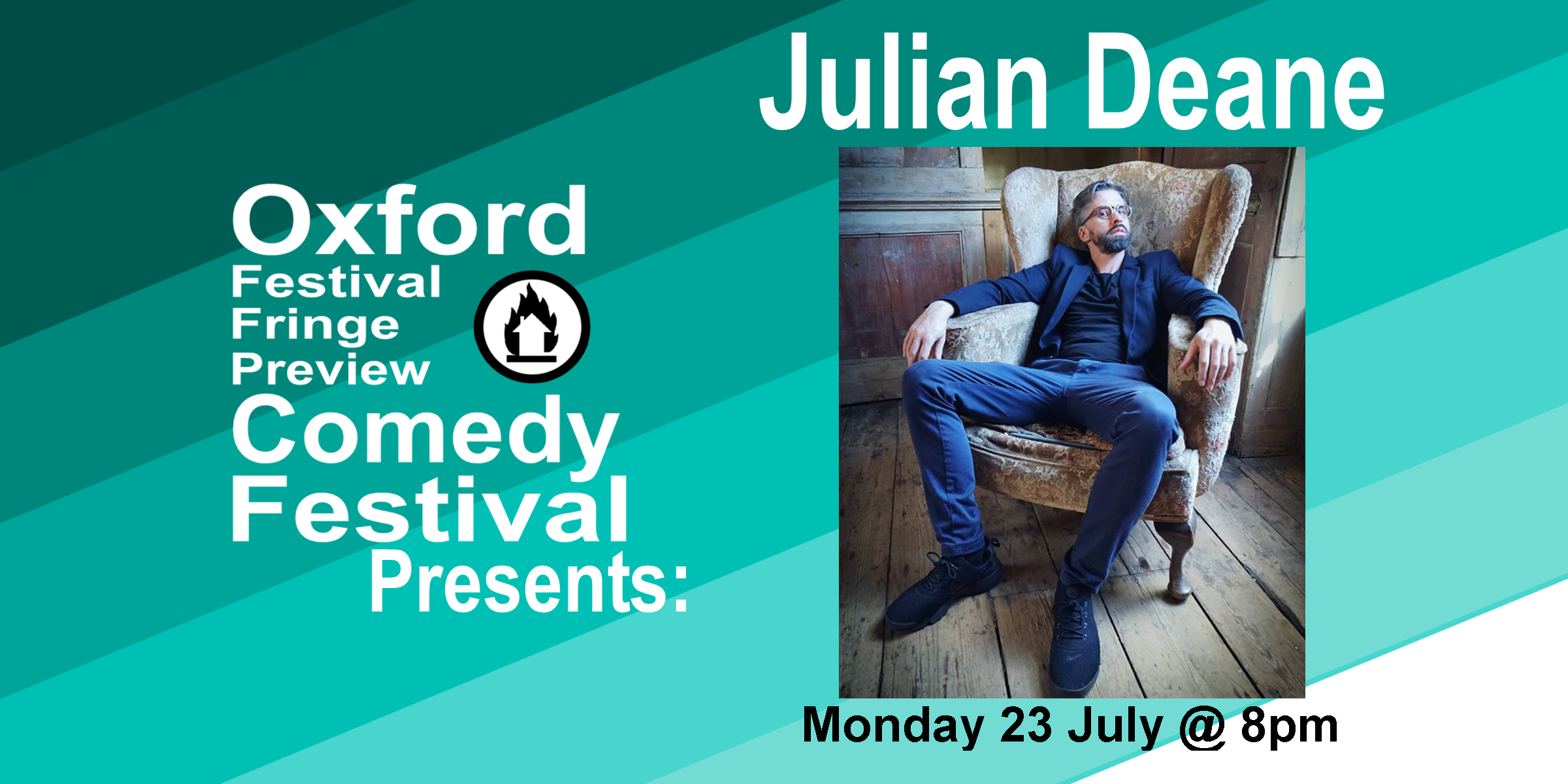 """Julian Deane has been wowing audiences across the country with his genius punch lines and perfect delivery. Julian was recently seen performing on Russell Howard's Hour and is currently supporting Paul Chowdhry on the highly-anticipated nationwide tour Live Innit. His witty writing skills have also been put to use on Matt Forde's Unspun (Dave Channel), which he wrote on in 2016. Furthermore, he has proved his talent by winning some of the most prestigious stand-up comedy competitions in the country and is also in big demand as a writer (Mock the Week, Never Mind the Buzzcocks, Morgan Spurlock's New Britannia)  All of this makes him a terrific act with a hugely exciting future ahead of him.  """"Deliciously twisted… a stream of seriously good gags… quick, sharply written and endlessly repeatable lines"""" The Guardian  """"It's just a matter of time before Julian Deane gets a boost up the comedy rankings… His trick is to make you think you're watching standard stand-up fare, then twisting expectations with sharp, original punchlines"""" The Independent  """"Assured and brilliant… Deane is a class apart… a master of hilarious twists and turns"""" Chortle  Doors at 7:30/Show at 8pm  60 minutes    Get Your Tickets Here!"""