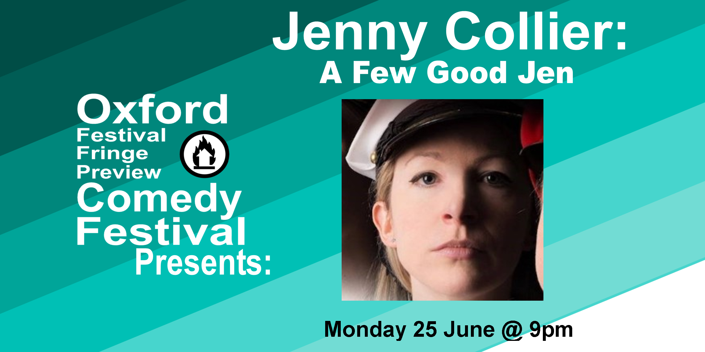 Multi award-winning Welsh comedian, Jenny Collier, is back and gooder than ever. 'Brilliant... Infectious to watch and a joy to behold **** ( VoiceMag.uk ). 'Unlike any other comedian' ***** ( EdfestMag.com ). 'Joyously liberating' (List). 'Very funny' (Time Out).  60 Minutes  Doors at 8:50/Show at 9pm    Get Your Tickets Here !