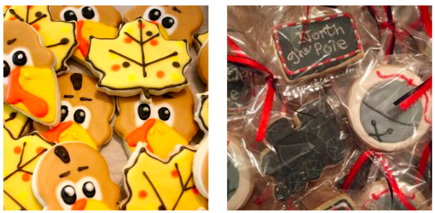 Brighten anyone's (holi)day with these adorable and delicious treats! Courtney can customize just about anything (believe me I've tried) into a cookie form decorated perfectly.