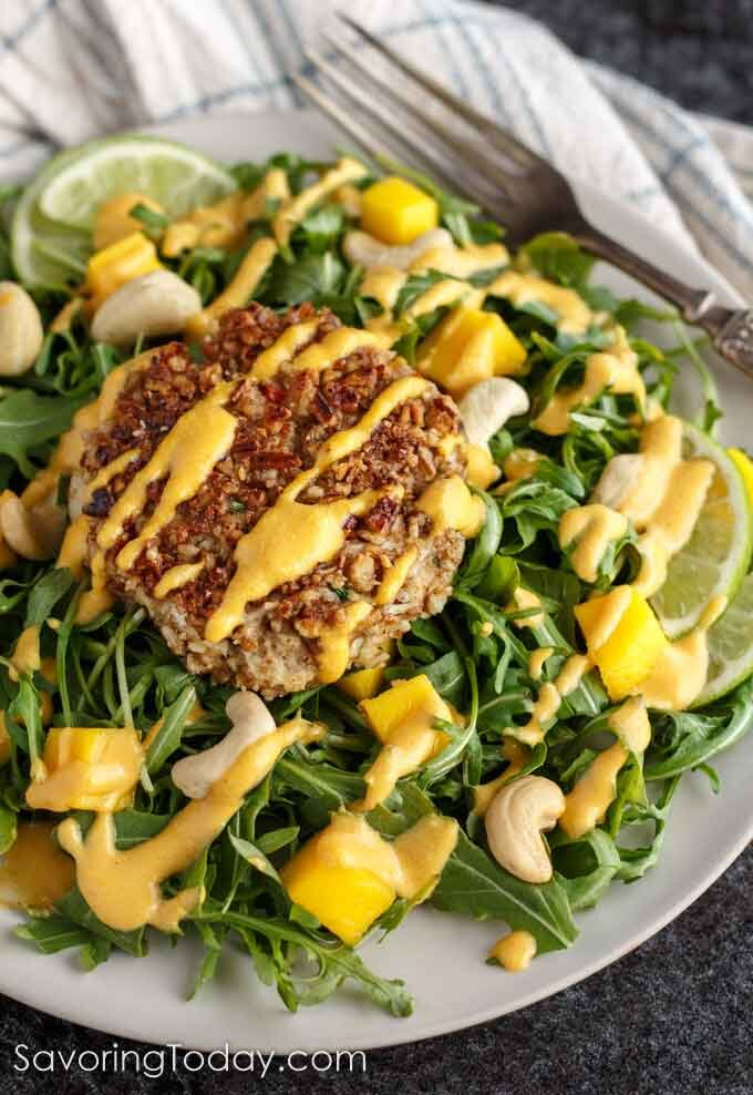 Crab Cakes with Mango Lime Sauce -
