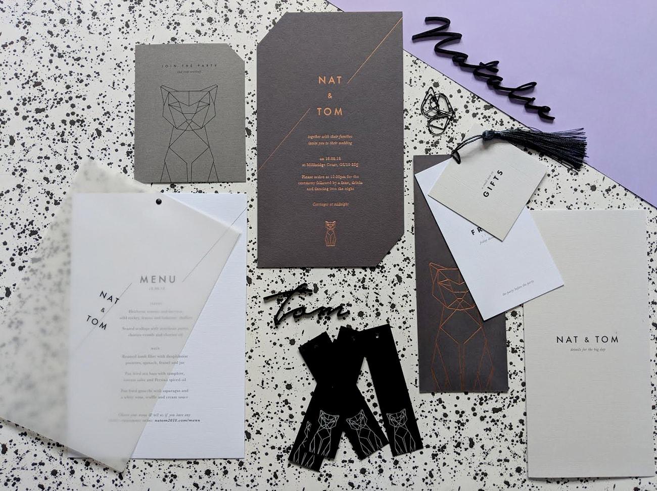 My wedding invite set