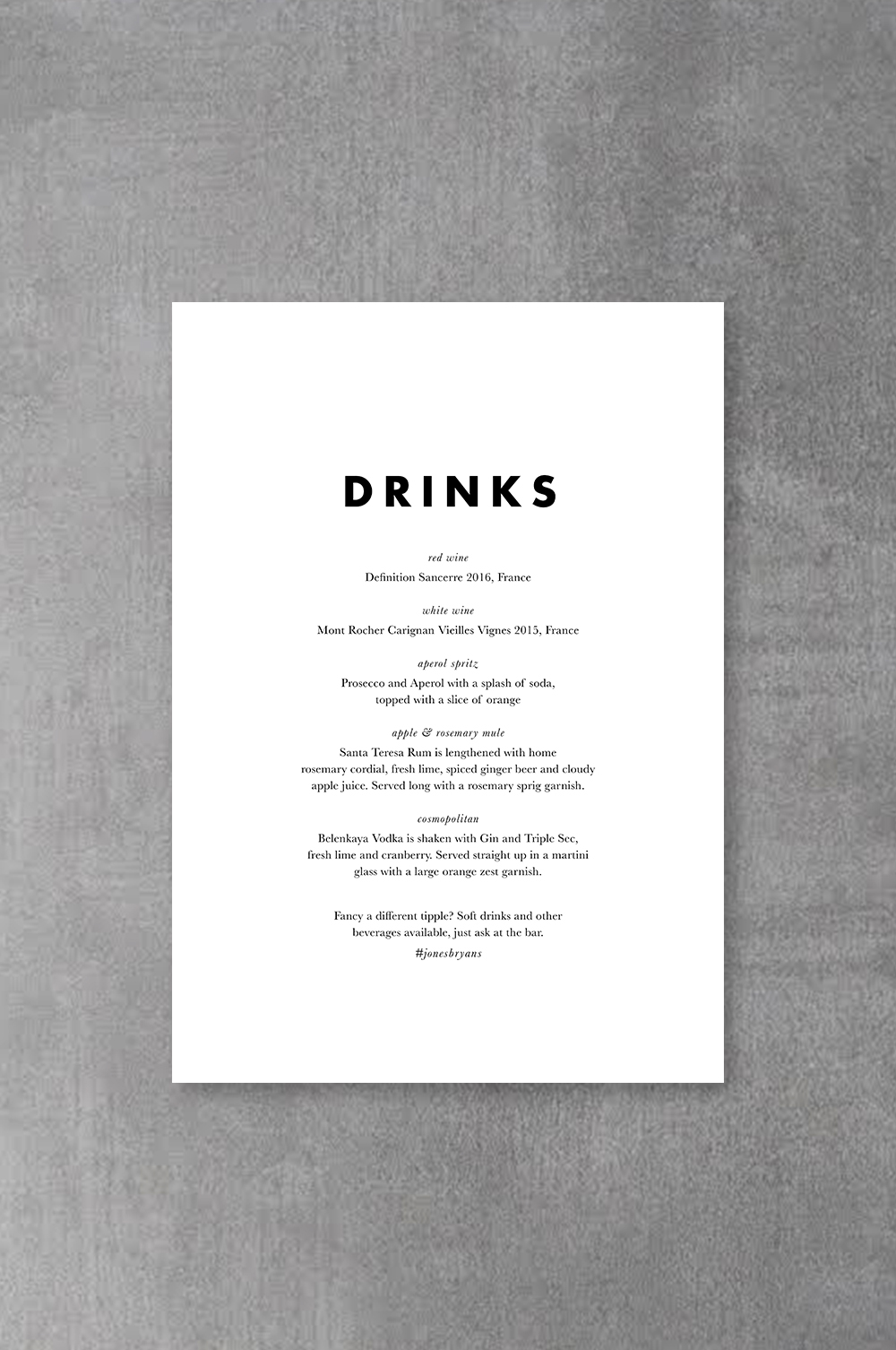 Drinks Poster