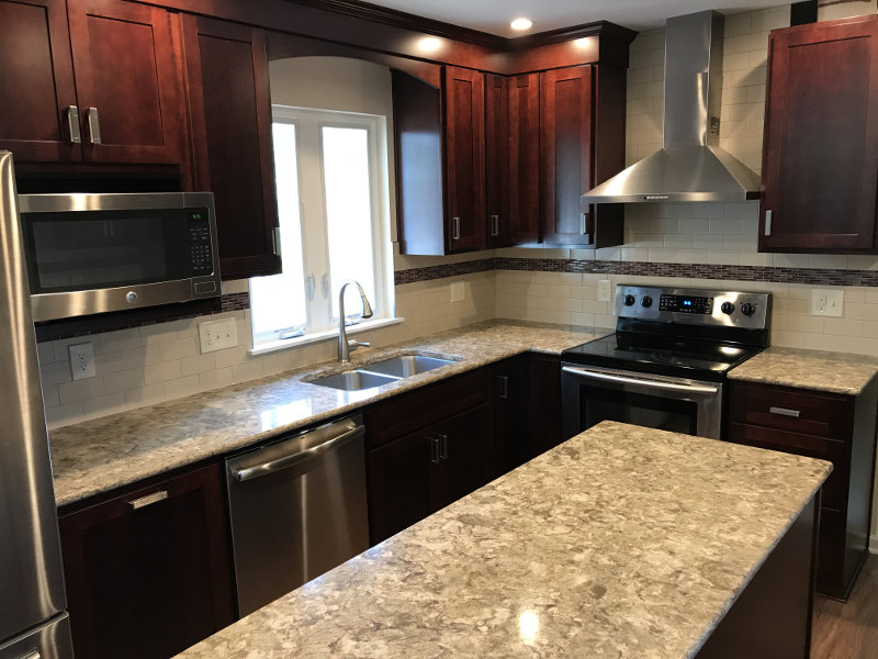 New Countertops and backsplash; and of course the new cabinets.