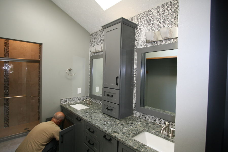That's Alan, our master craftsman.  Schedule a Free Design Consultation and see what Alan can do for your kitchen or bath.