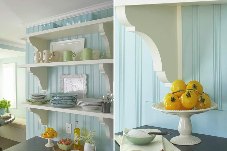 Beadboard Paneling in a country farmhouse kitchen