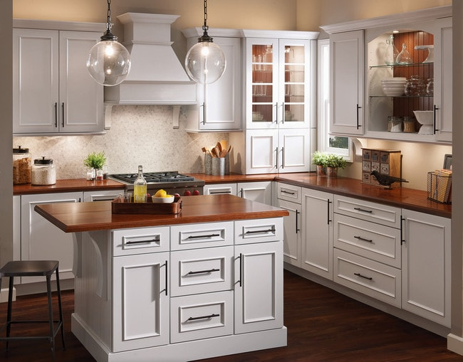 """""""We just had the kitchen of my dreams completed. It is even better than I could have ever expected! It was not bargain priced, but I feel it was fair for the excellent quality that we received. I would highly recommend KraftMaid cabinets to anyone. I had them put into my last kitchen (about 16 years ago) and they have held up beautifully!""""  From Sherry in September of 2017."""