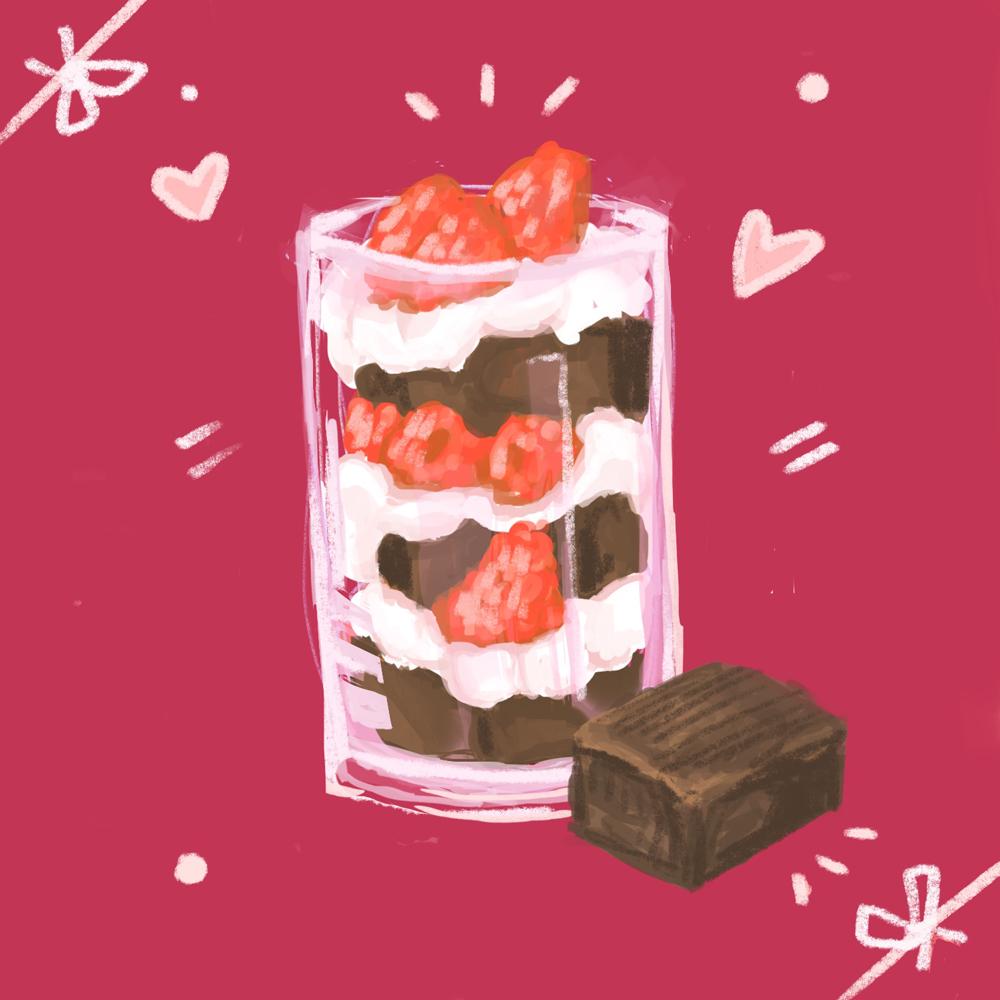 Mini Fruit and Brownie Trifle